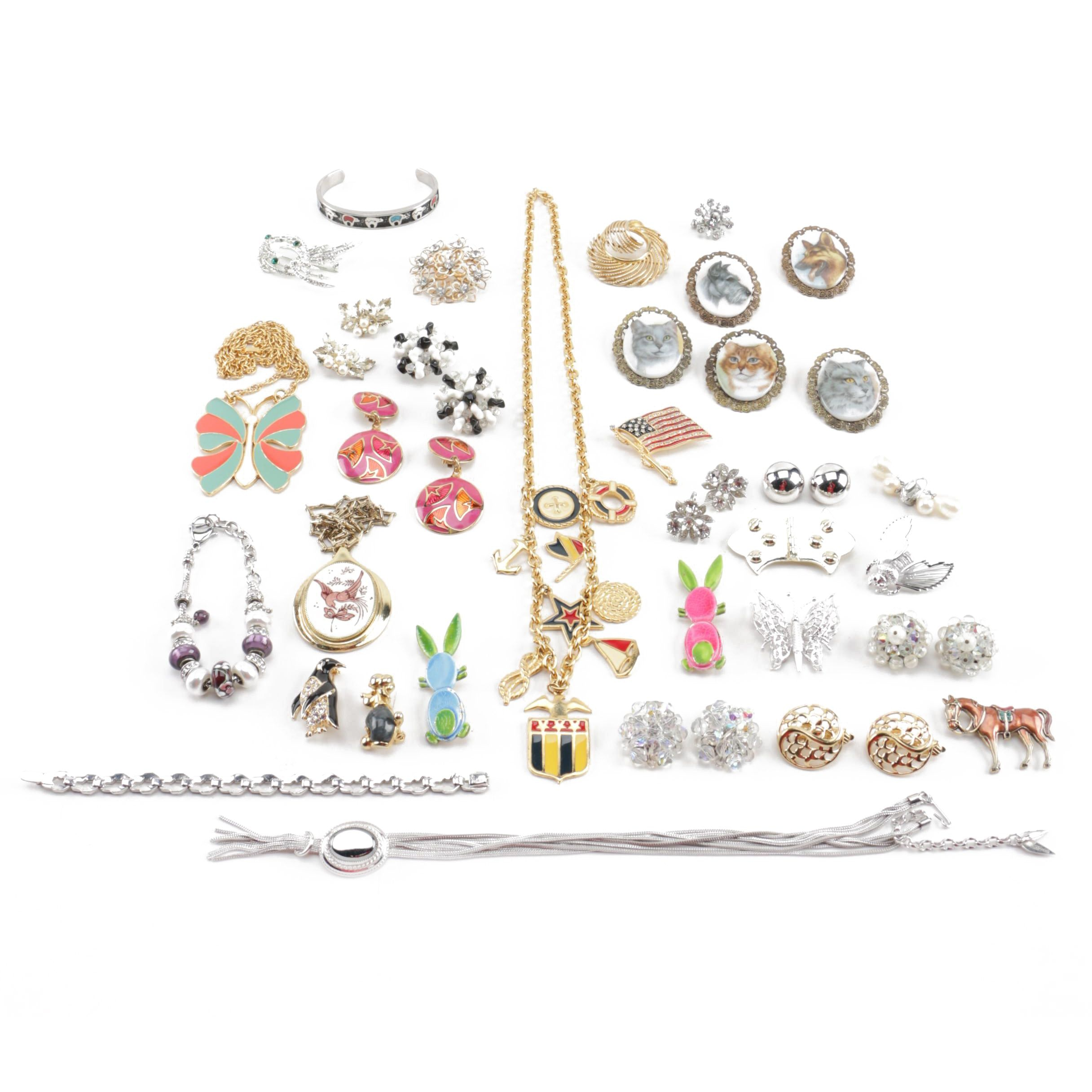 Selection of Vintage Jewelry Including Bogoff
