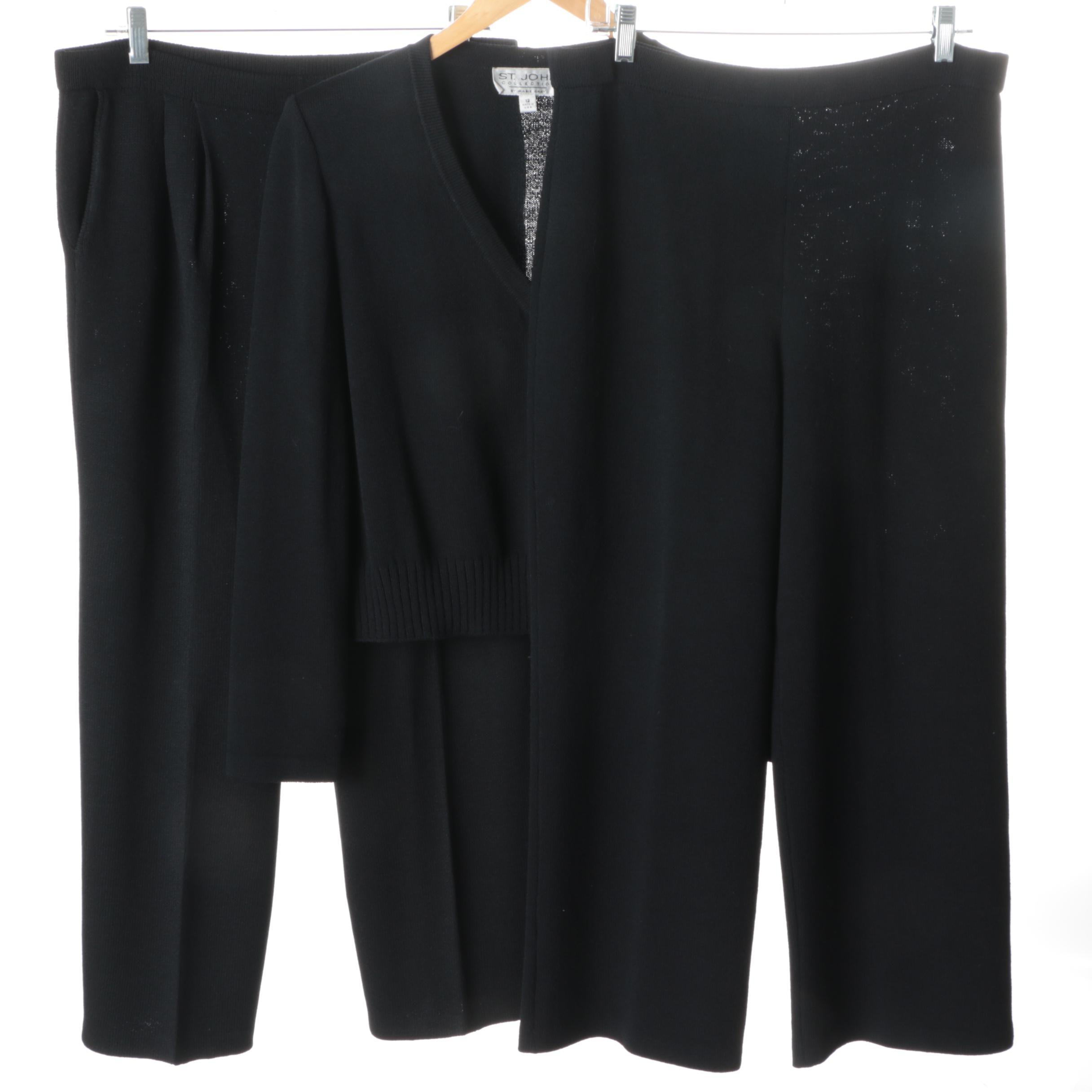 St. John Black Knitwear
