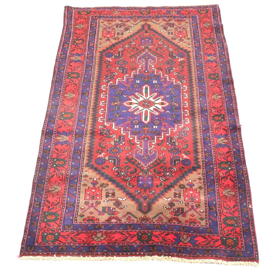 Hand Knotted Indo Persian Obeetee Wool Area Rug Ebth: Vintage Hand-Knotted Persian Kurdish Bijar Area Rug