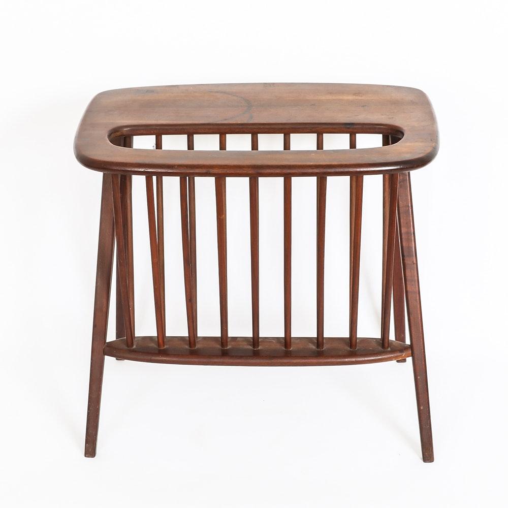 Mid Century Modern End Table With Magazine Rack By Arthur Umanoff ...