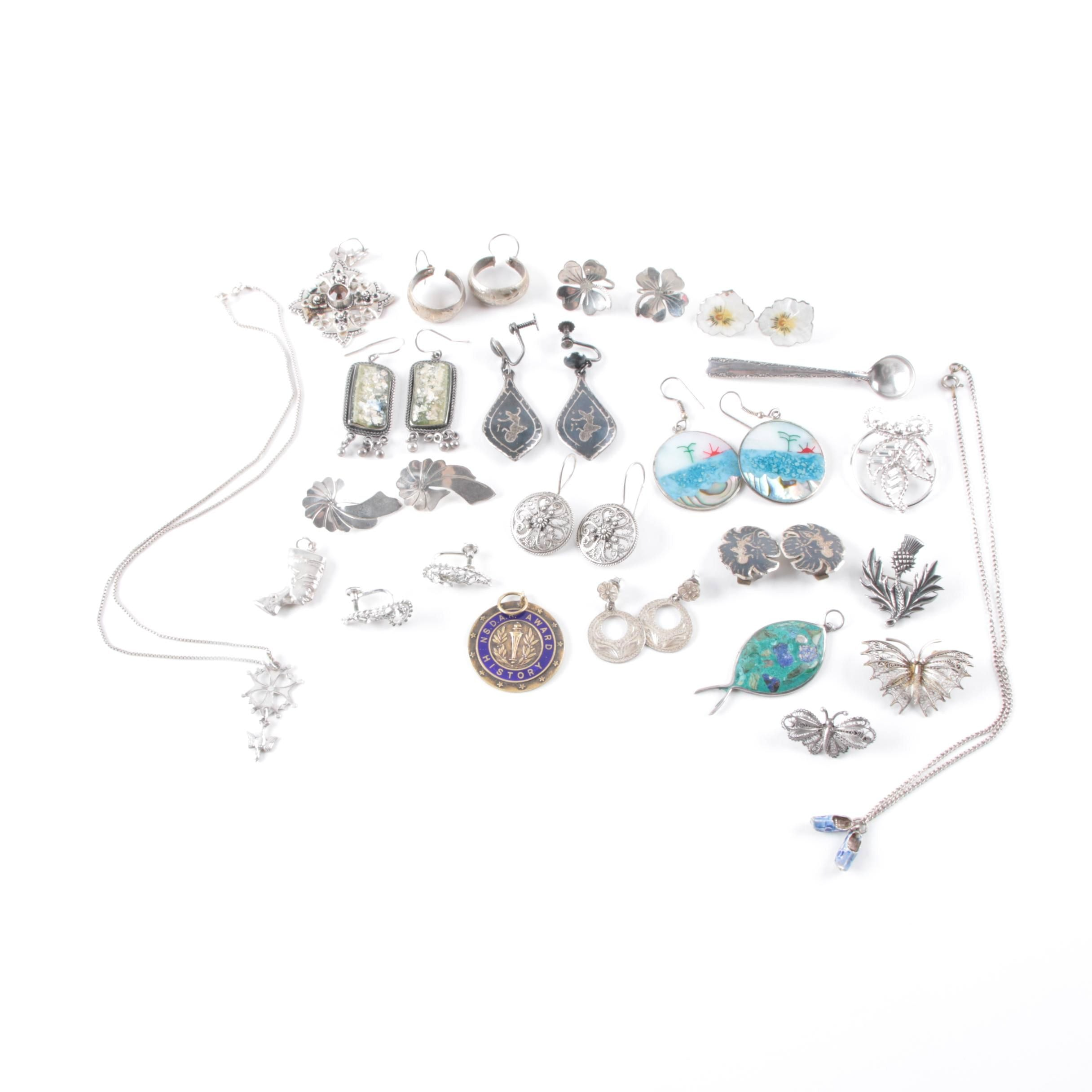 Sterling Silver Jewelry Made in Scotland, Turkey, Israel and Mexico