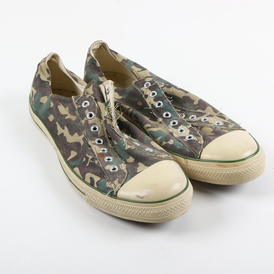 eaba08953ff09 Converse Men's Camo Slip-On Sneakers : EBTH