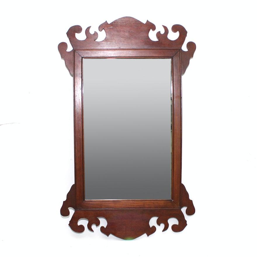 Antique Mahogany Wall Mirror Ebth