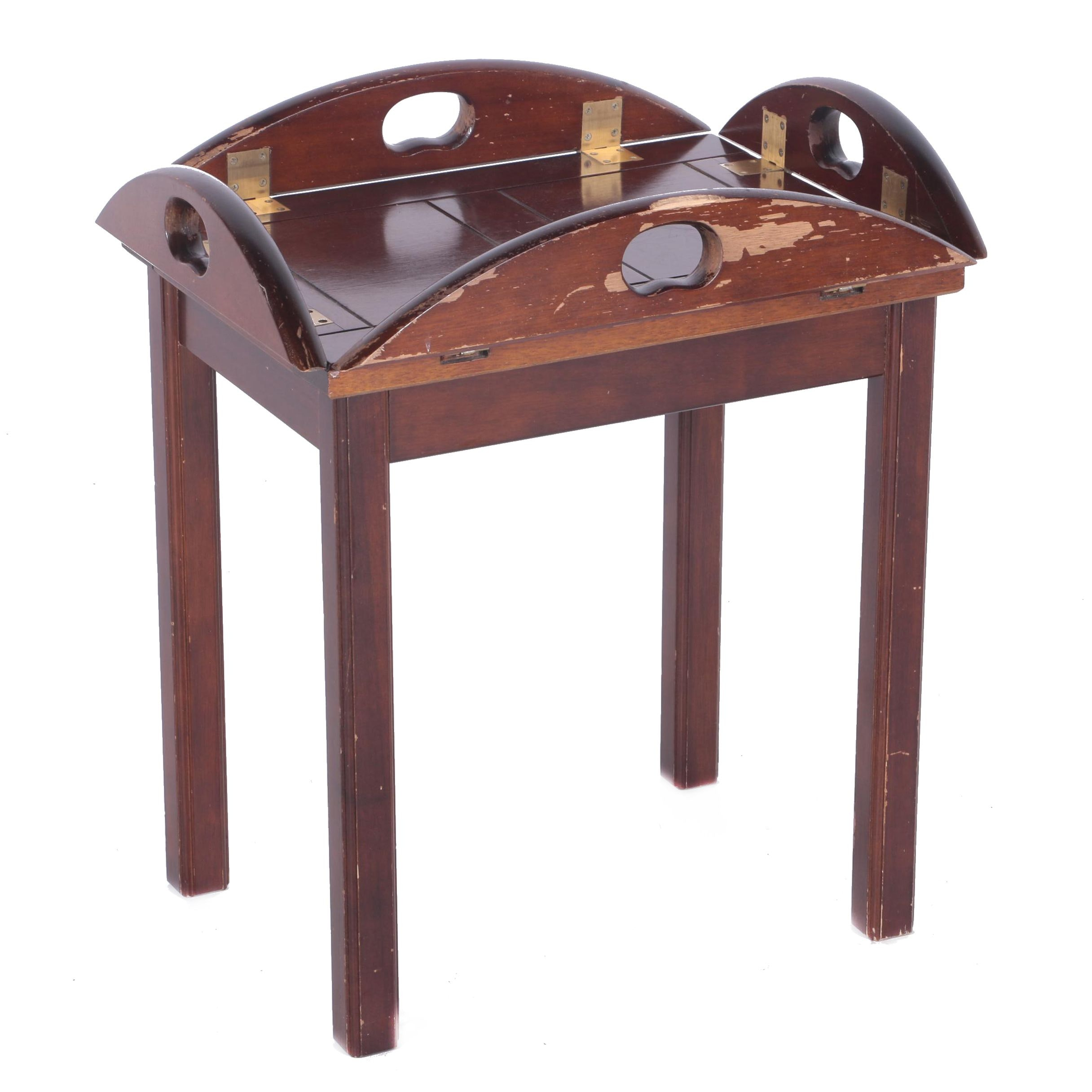 Mahogany Finished Butlers Table from Bombay Company