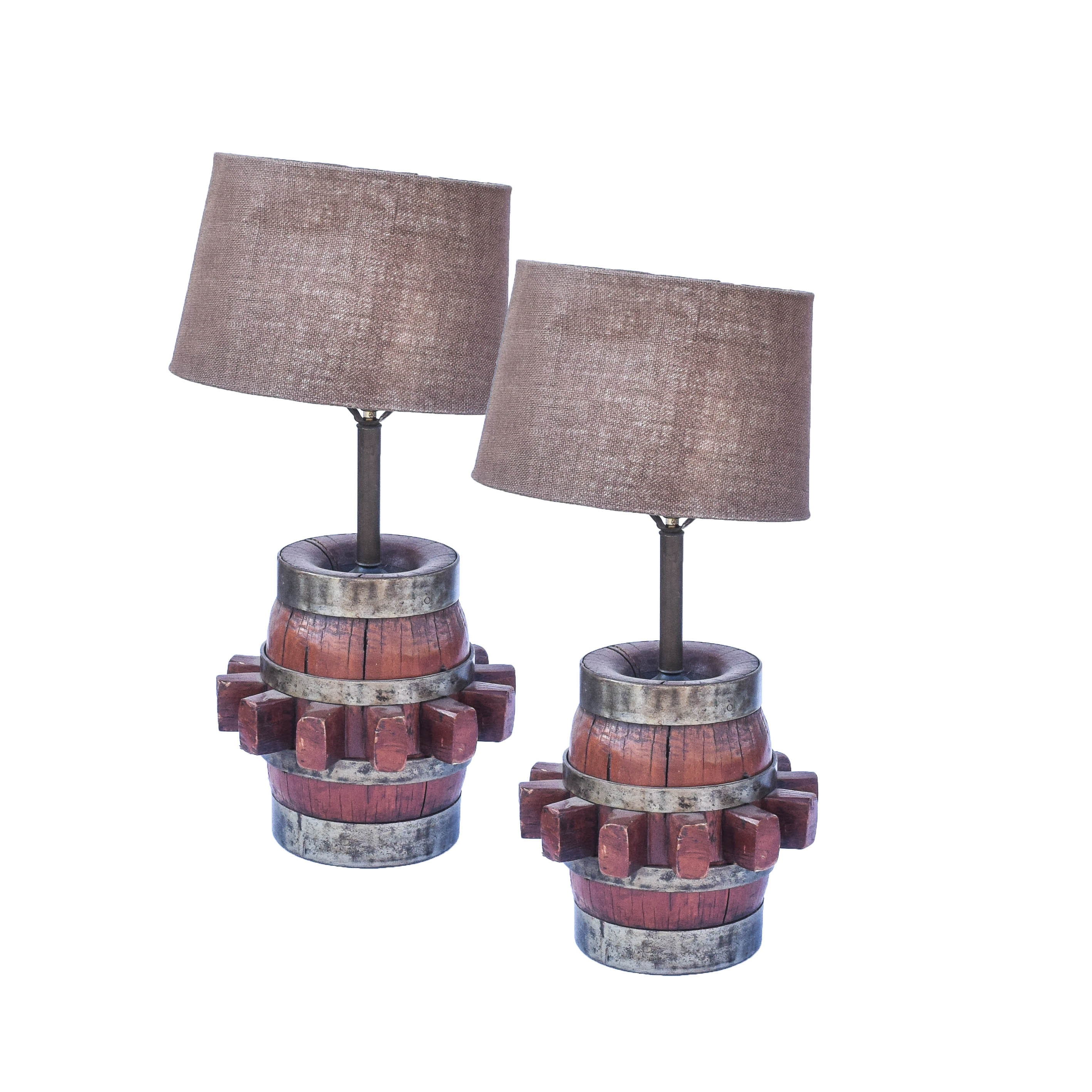 Vintage Western Themed Table Lamps