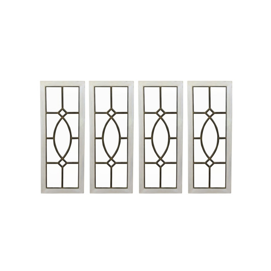 Ballard designs garden district mirrored panels ebth for Ballard designs garden district mirrors