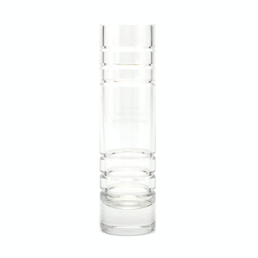 Tiffany Co Ring Cut Crystal Vase Ebth