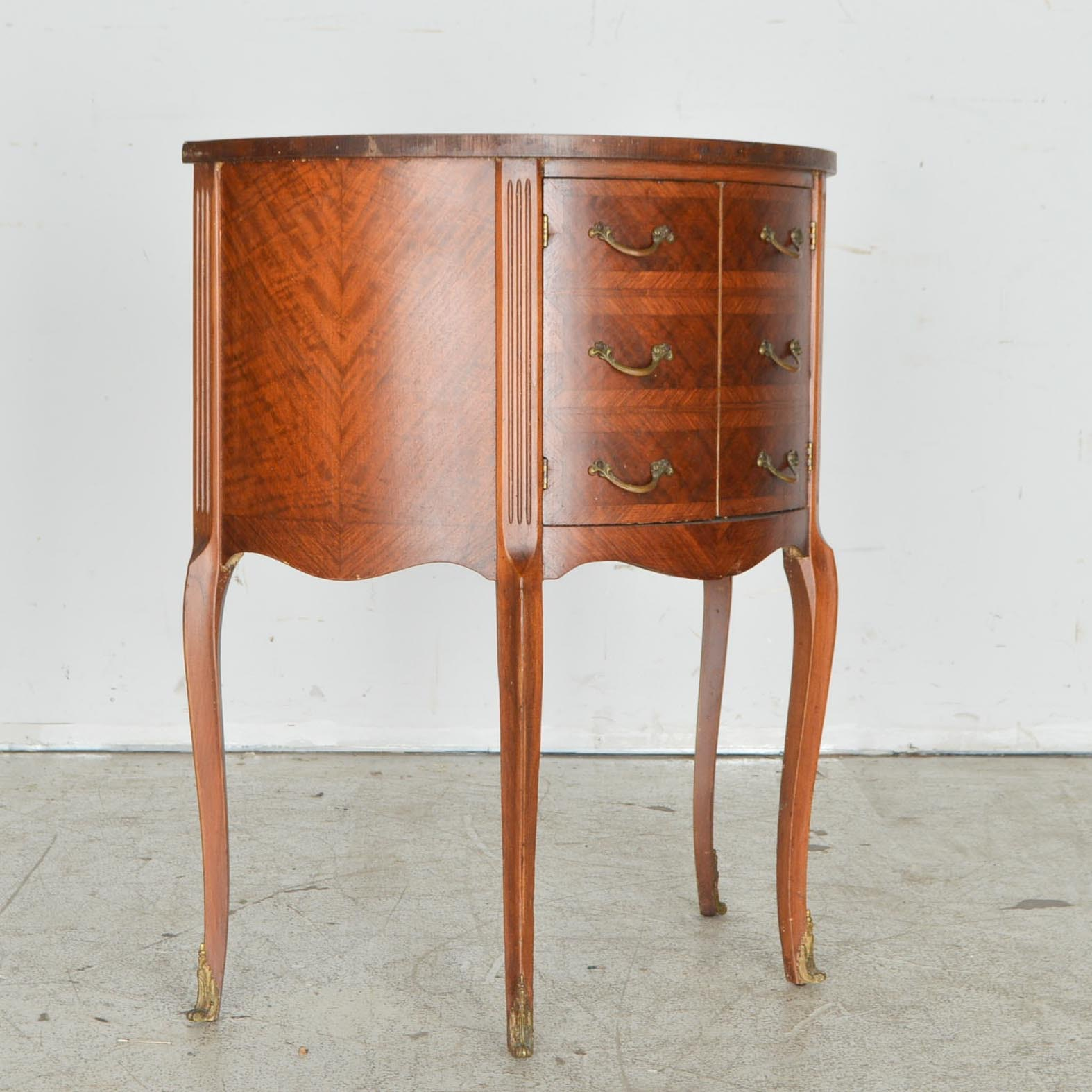 Louis XV Style Demilune Accent Table