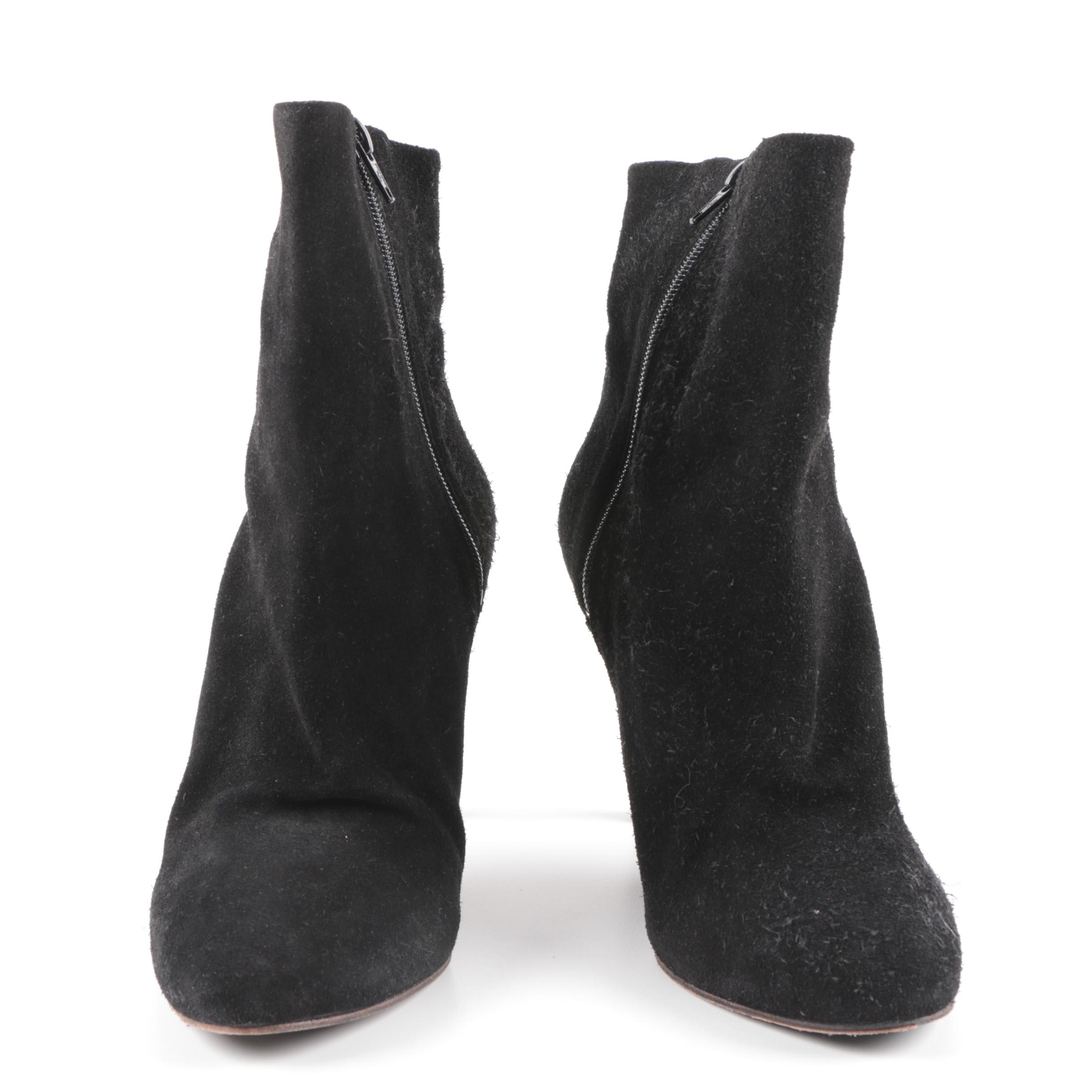 Free People Black Suede Ankle Boots