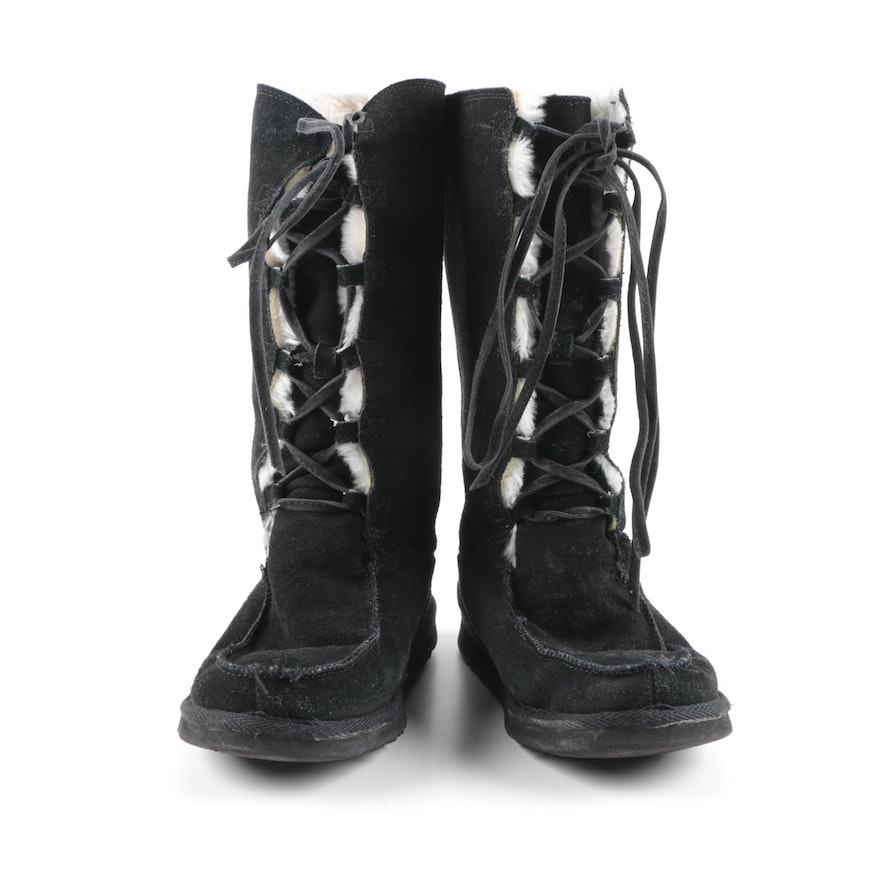 Women's Ugg Australia Whitley Classic Tall Black Suede Boots ...