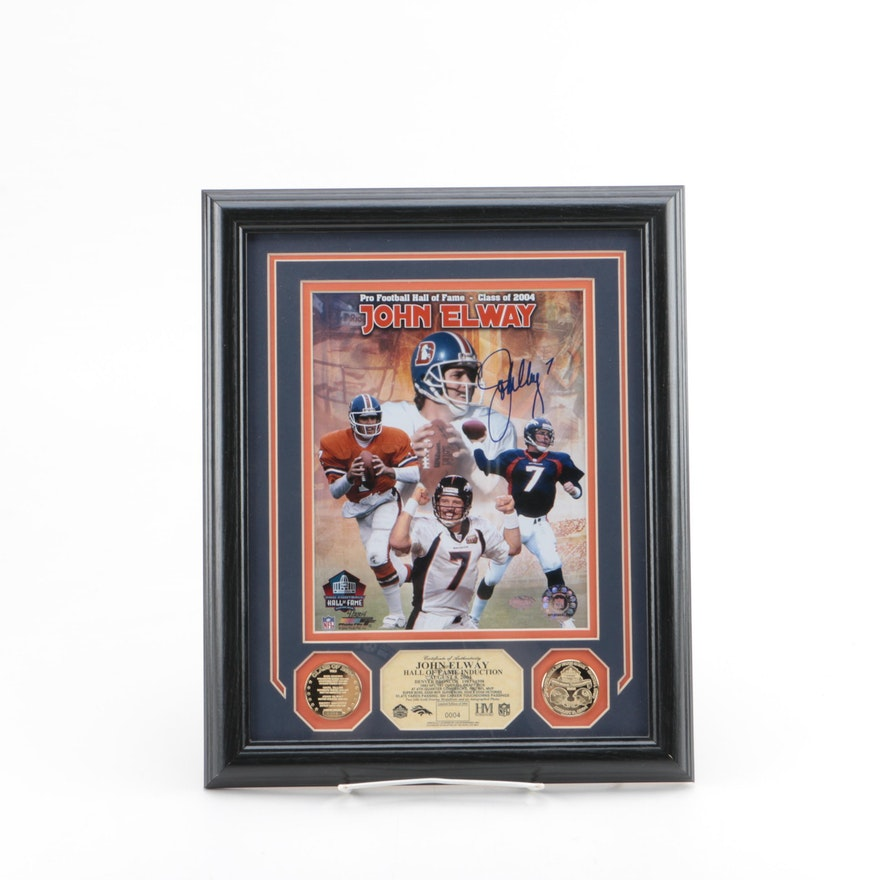 154187b2a Autographed Limited Edition John Elway Hall of Fame Induction Photomint    EBTH