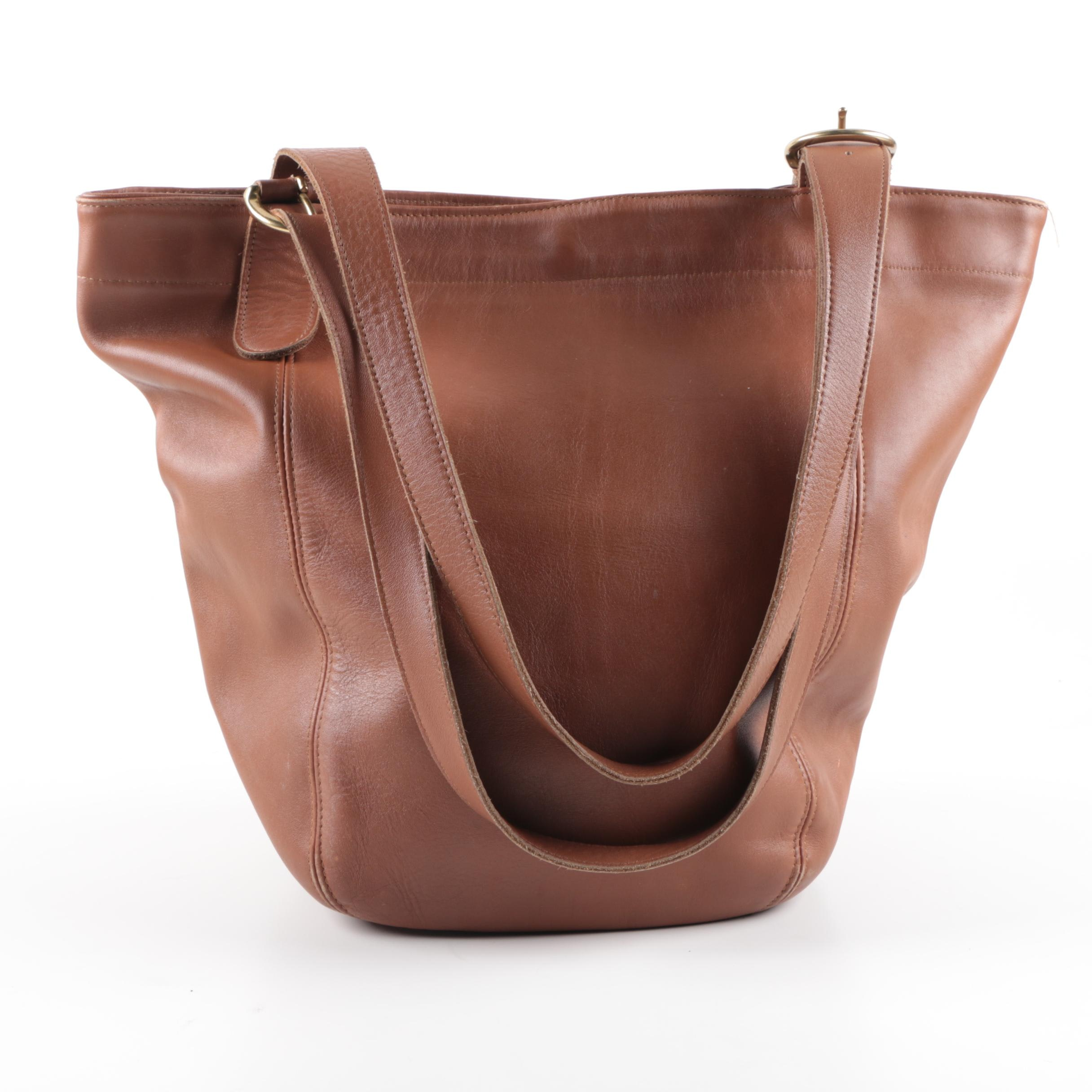 Coach Soho Brown Leather Tote Bag