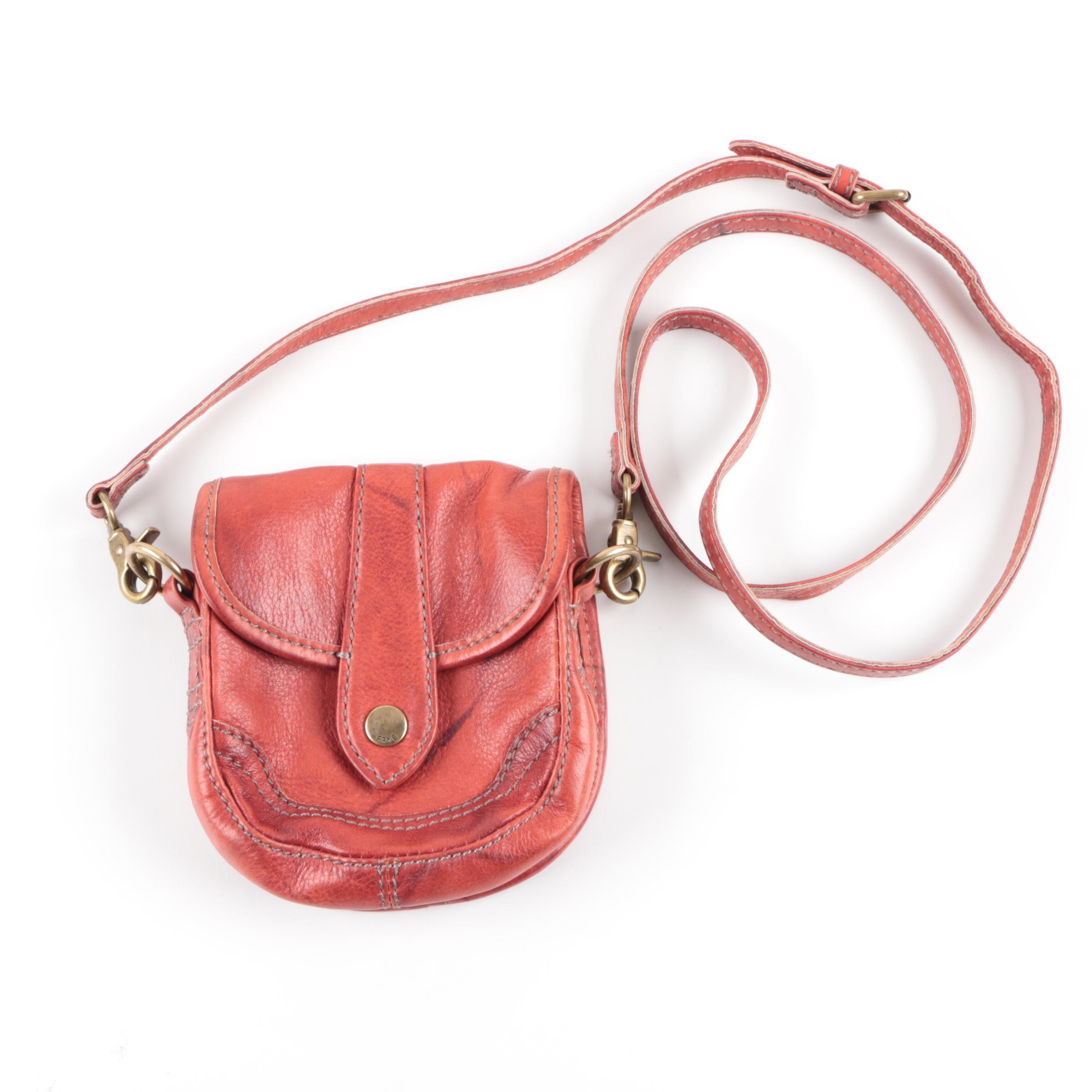 Frye Red Leather Crossbody Handbag