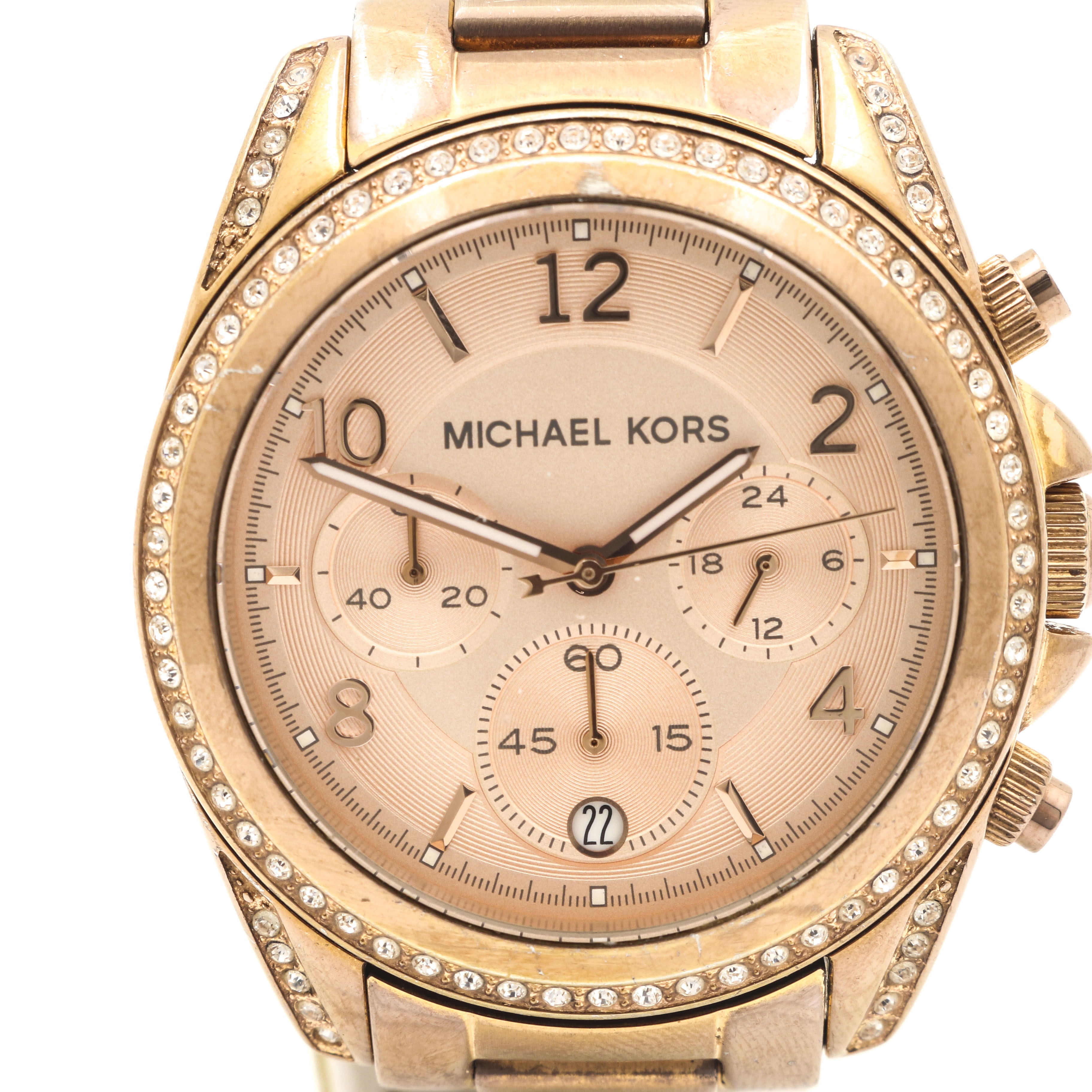 Micheal Kors Rose Gold Tone Stainless Steel Wristwatch