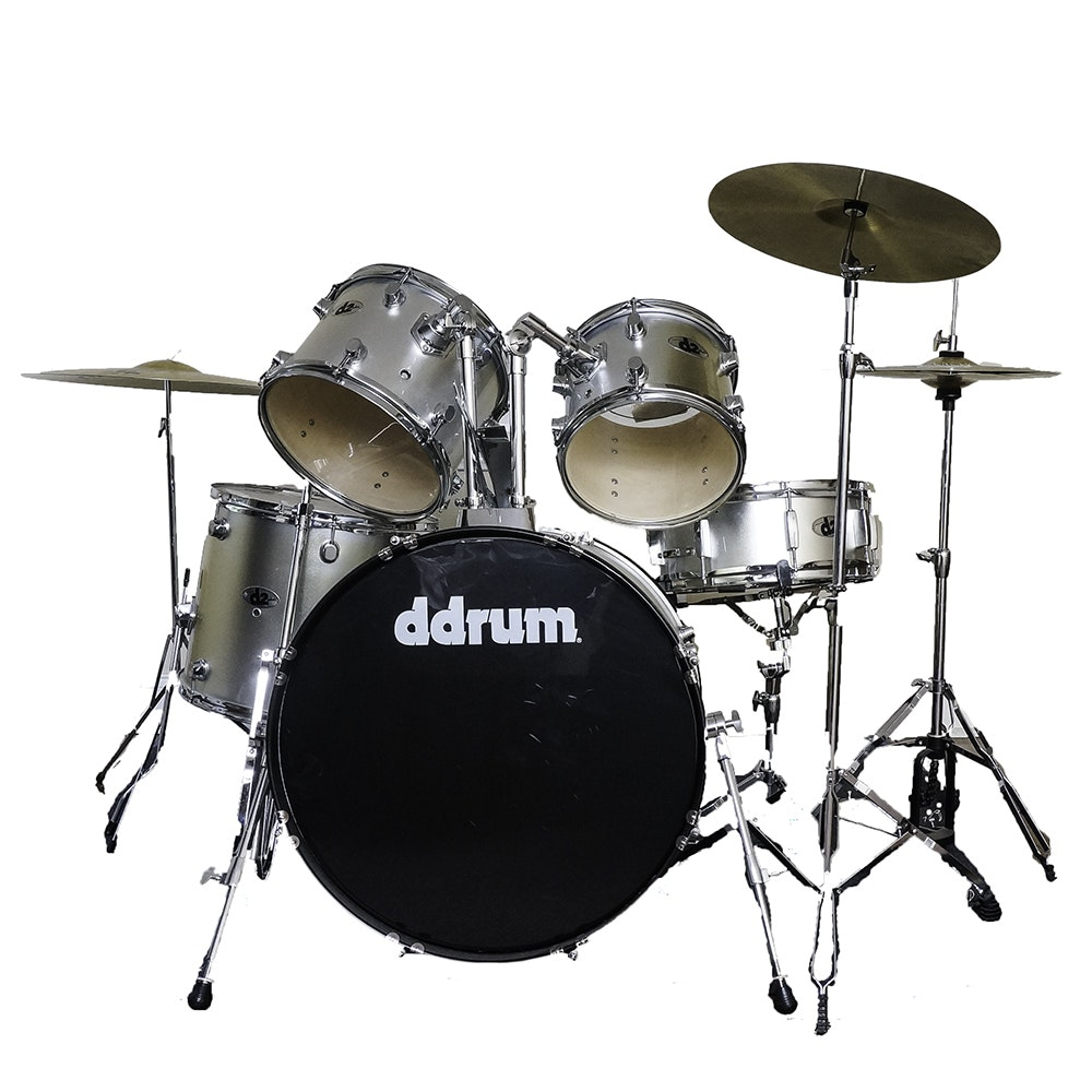DDrum D2 5-Piece Drum Kit in Brushed Silver