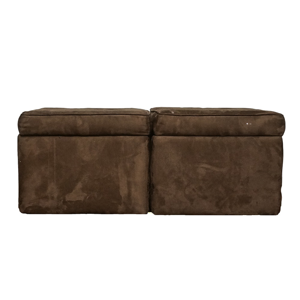 Pair of Contemporary Storage Ottomans