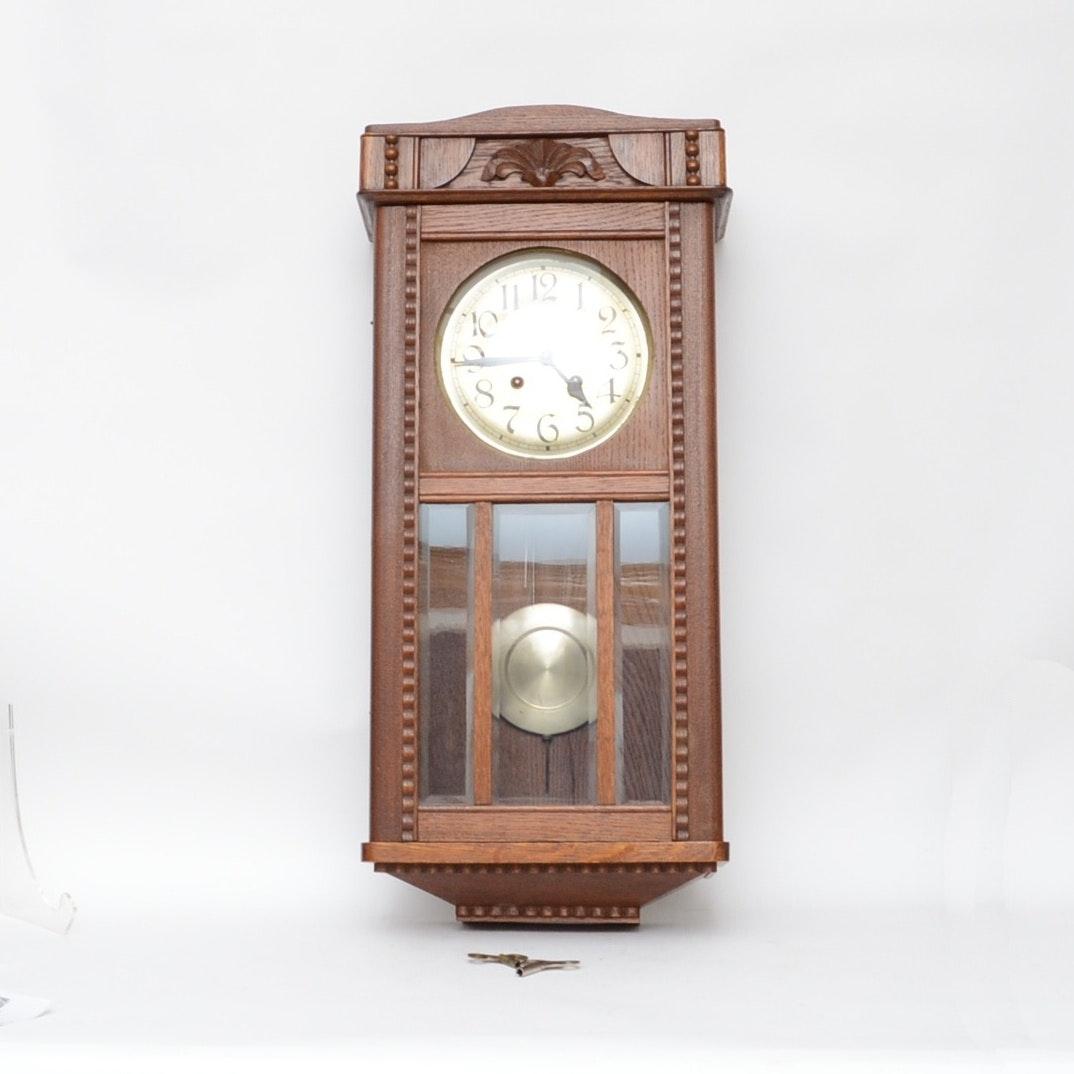Guestav Becker Mission Style  Wall Clock
