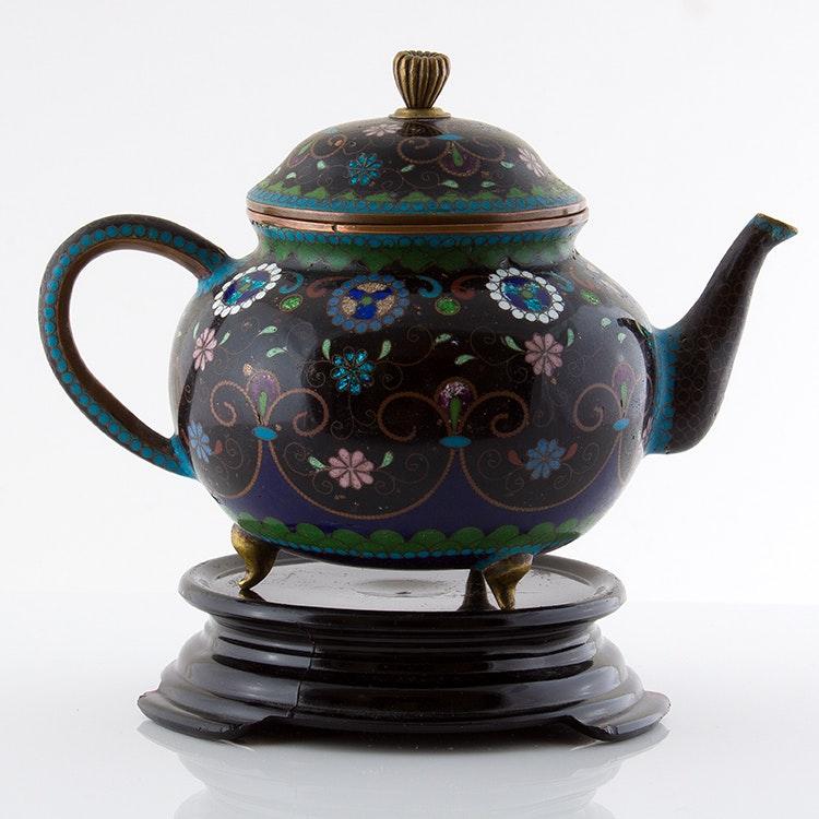 Antique Cloisonné Teapot