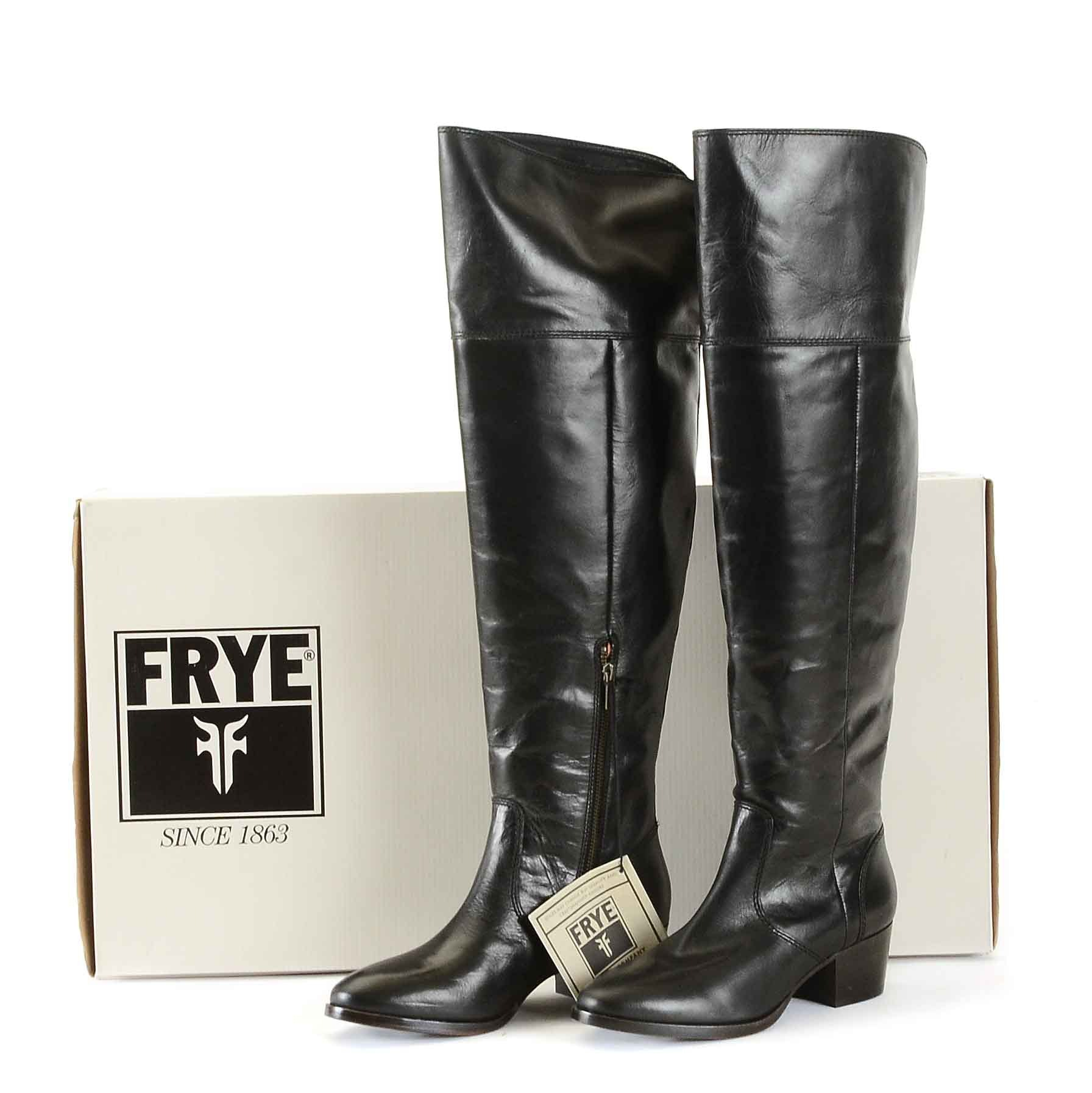 Frye Clara Over the Knee Leather Boots