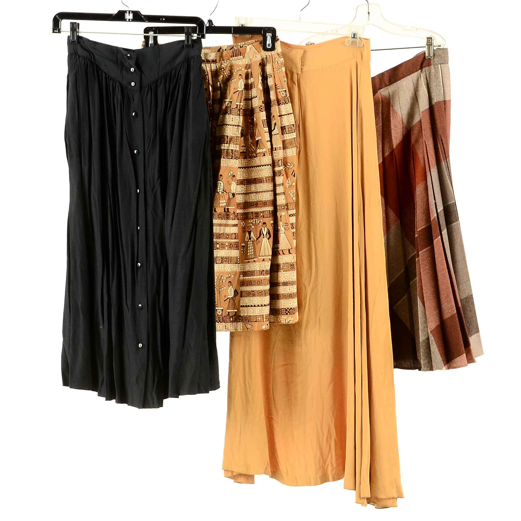 Collection of Vintage Skirts including Nelly De Grab