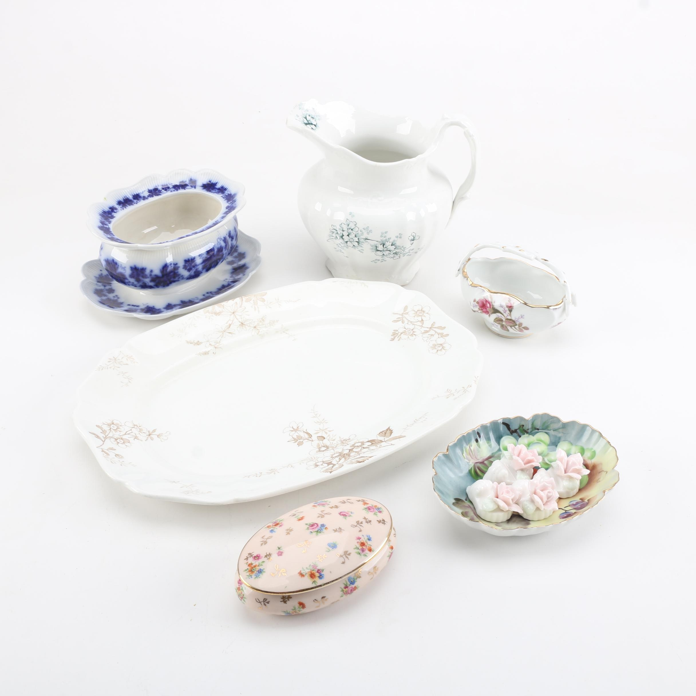 """Antique Alfred Meakin, Gefle Sweden """"Vinranka"""" and Other Decor and Tableware"""