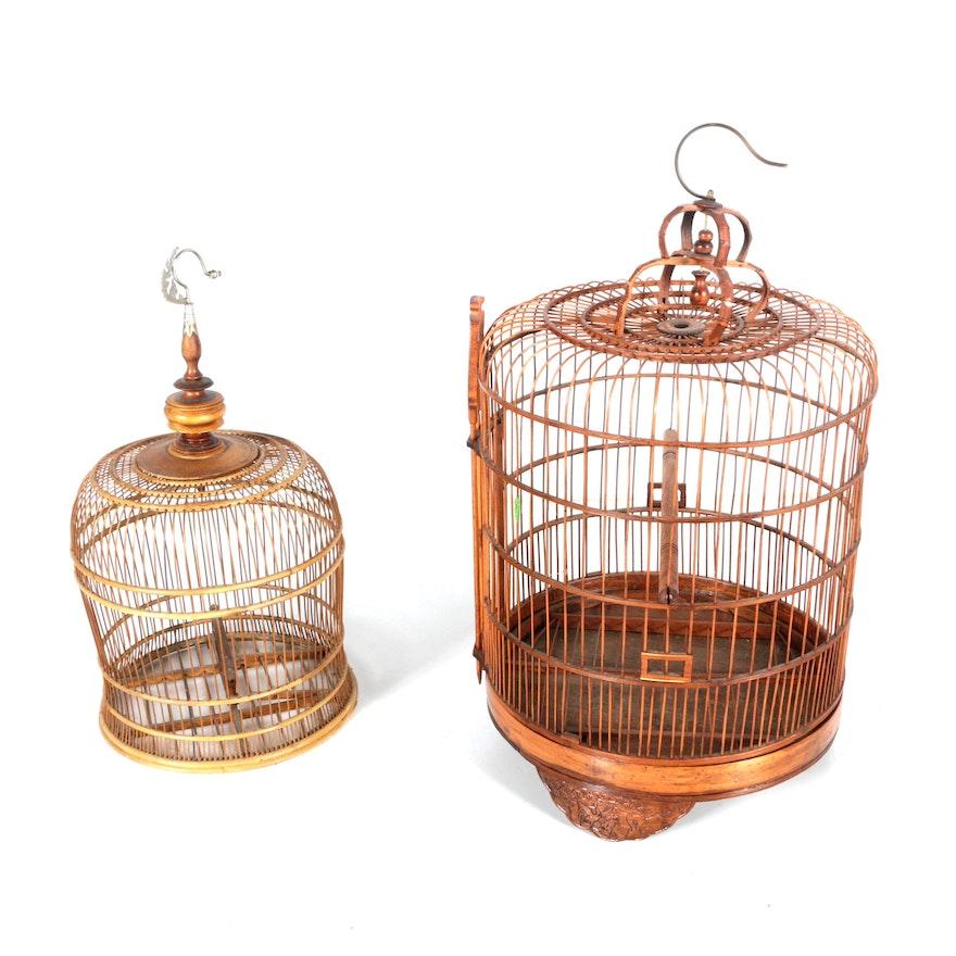 Vintage Wooden Birdcages