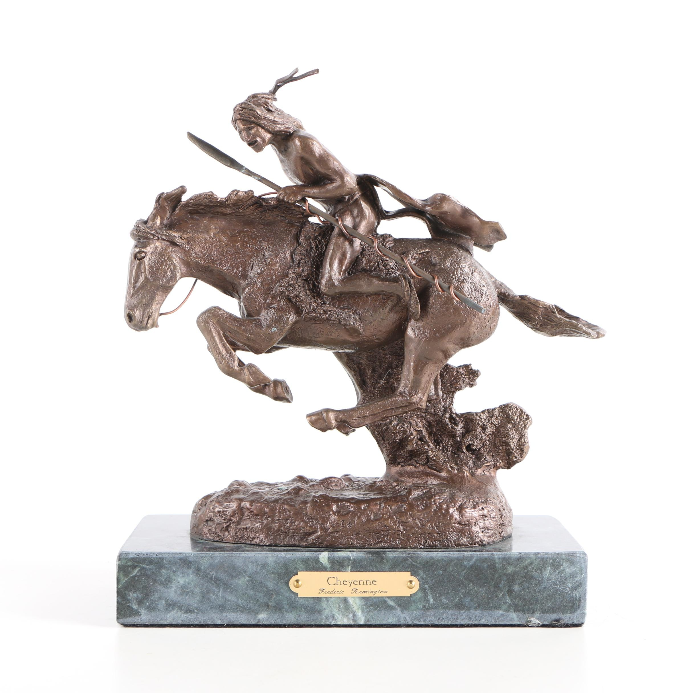 "Sculpture after Frederic Remington ""Cheyenne"""