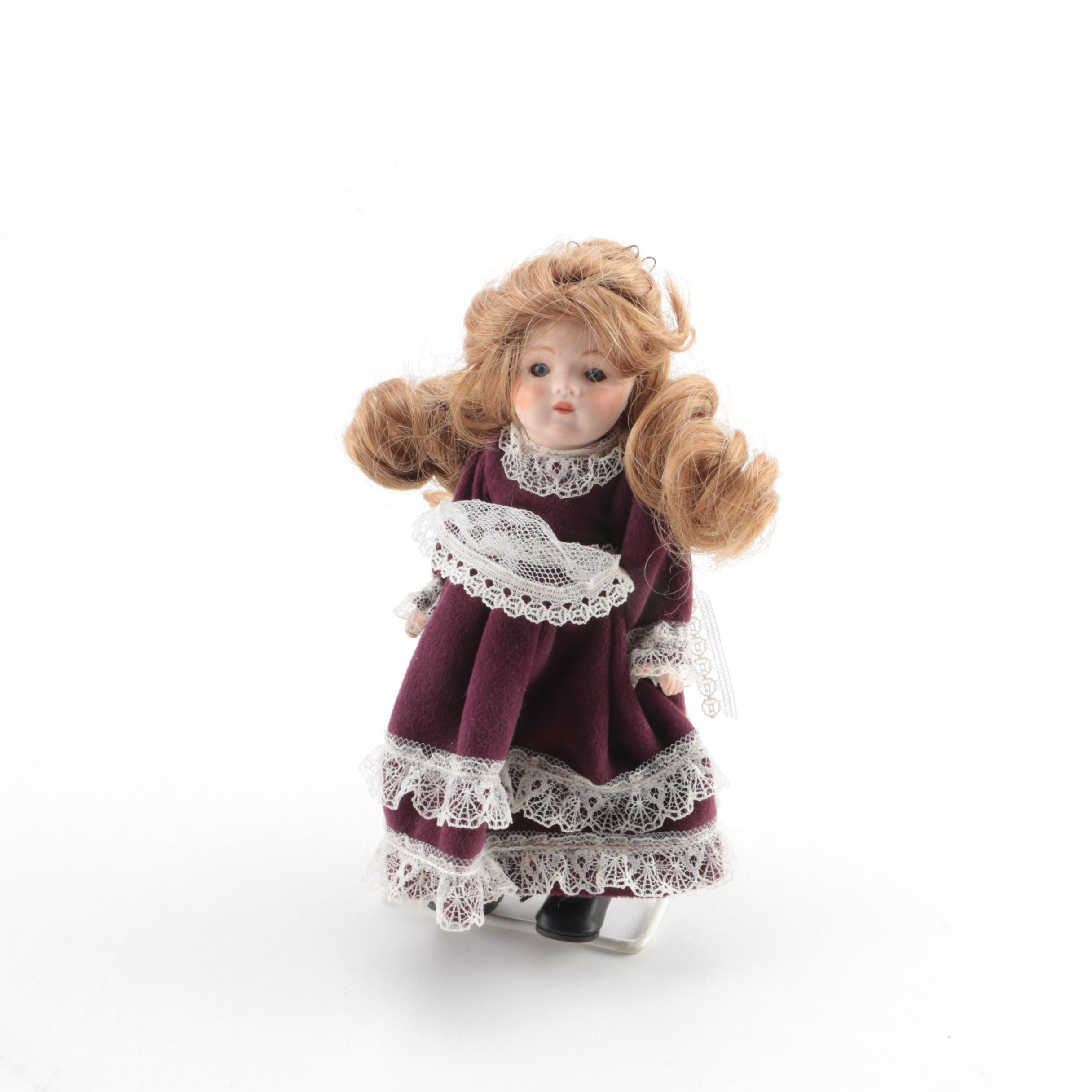 Vintage Hand-Painted Bisque Doll