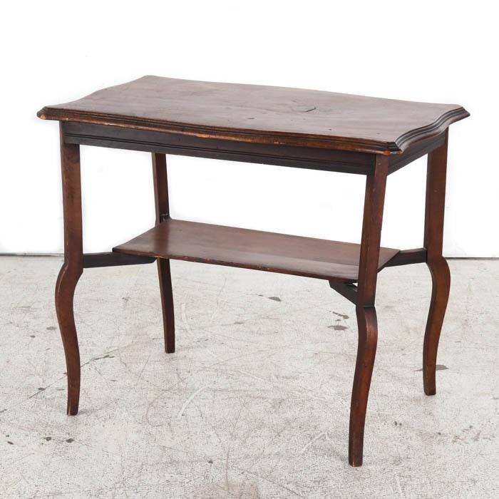 Antique Mahogany Library Table