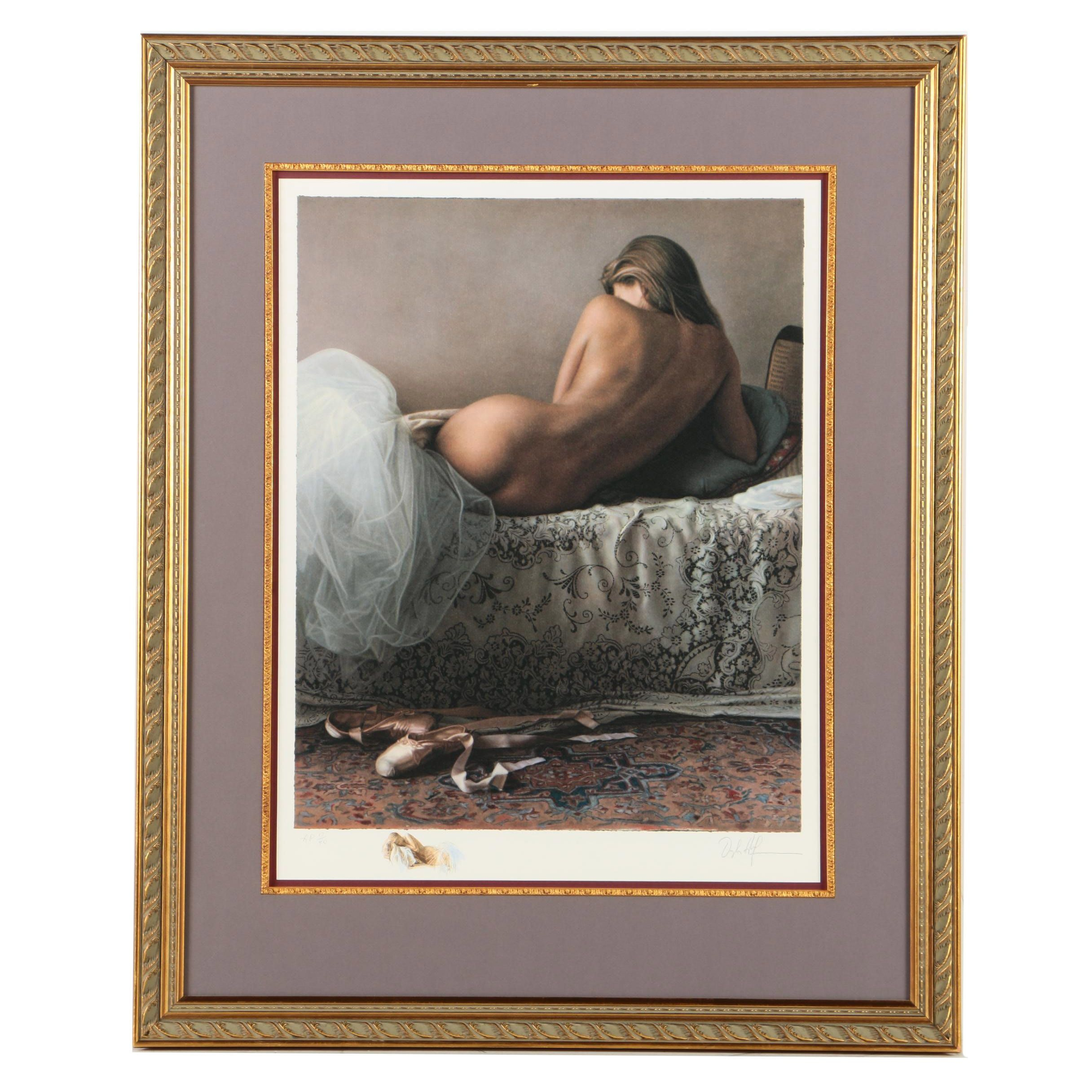 Douglas Hoffman Limited Edition Giclee Print on Paper of a Reclining Nude