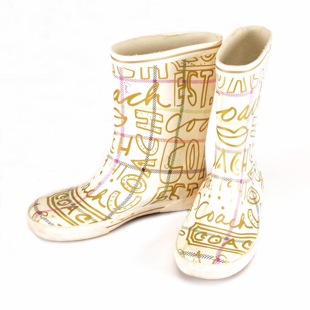 "Coach ""Ursula"" Rain Boots"