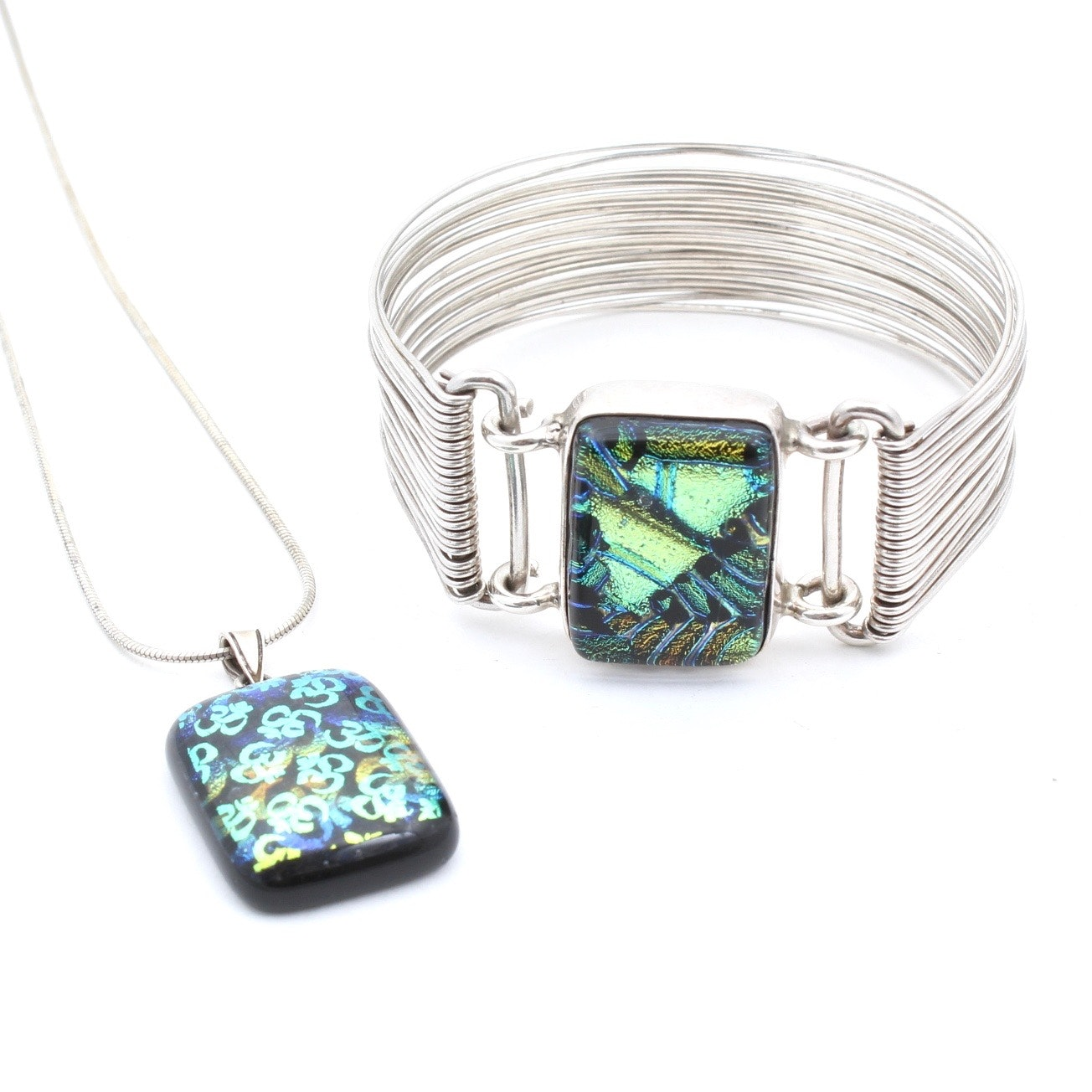 Sterling Silver Dichroic Glass Jewelry