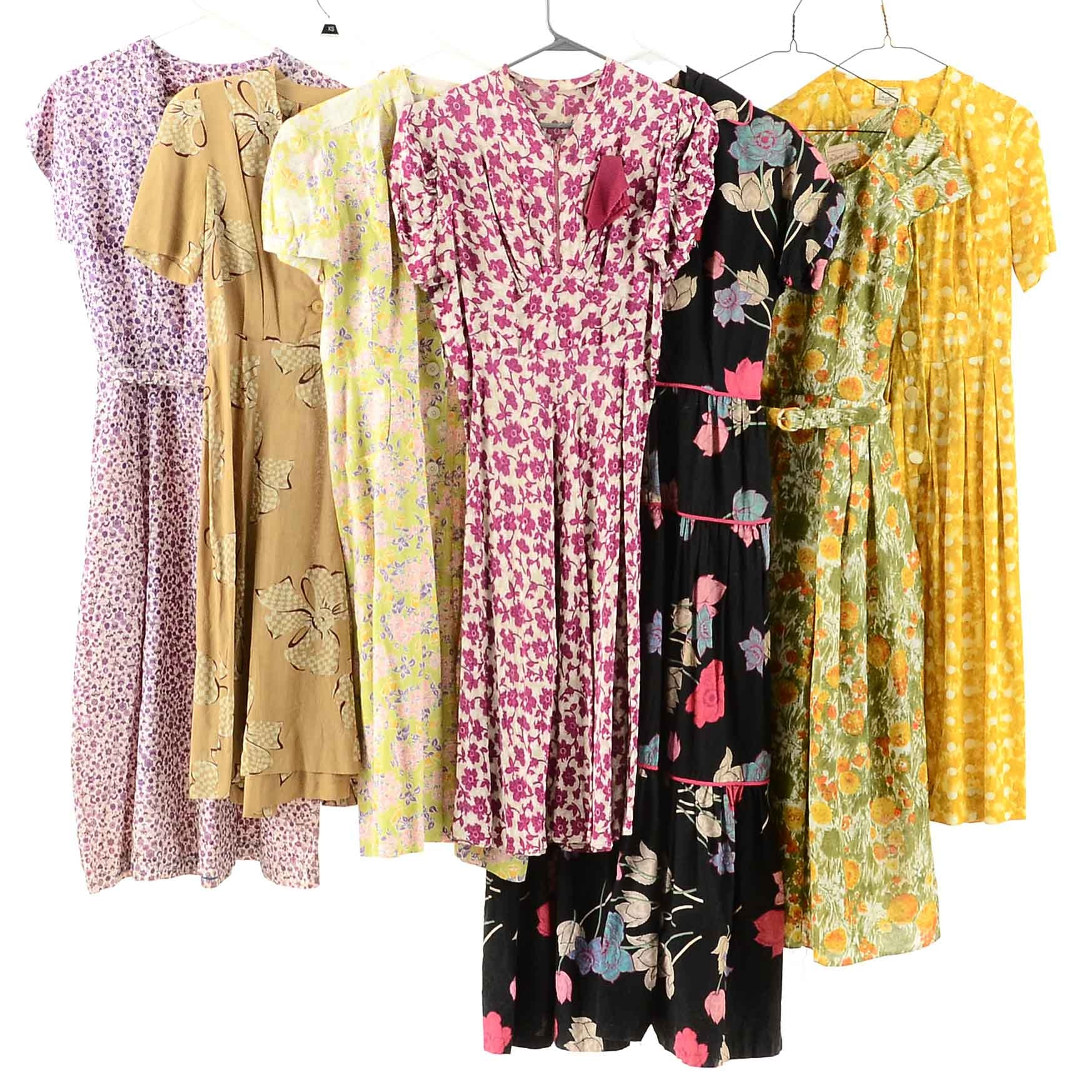 Collection of 1950's Day Dresses
