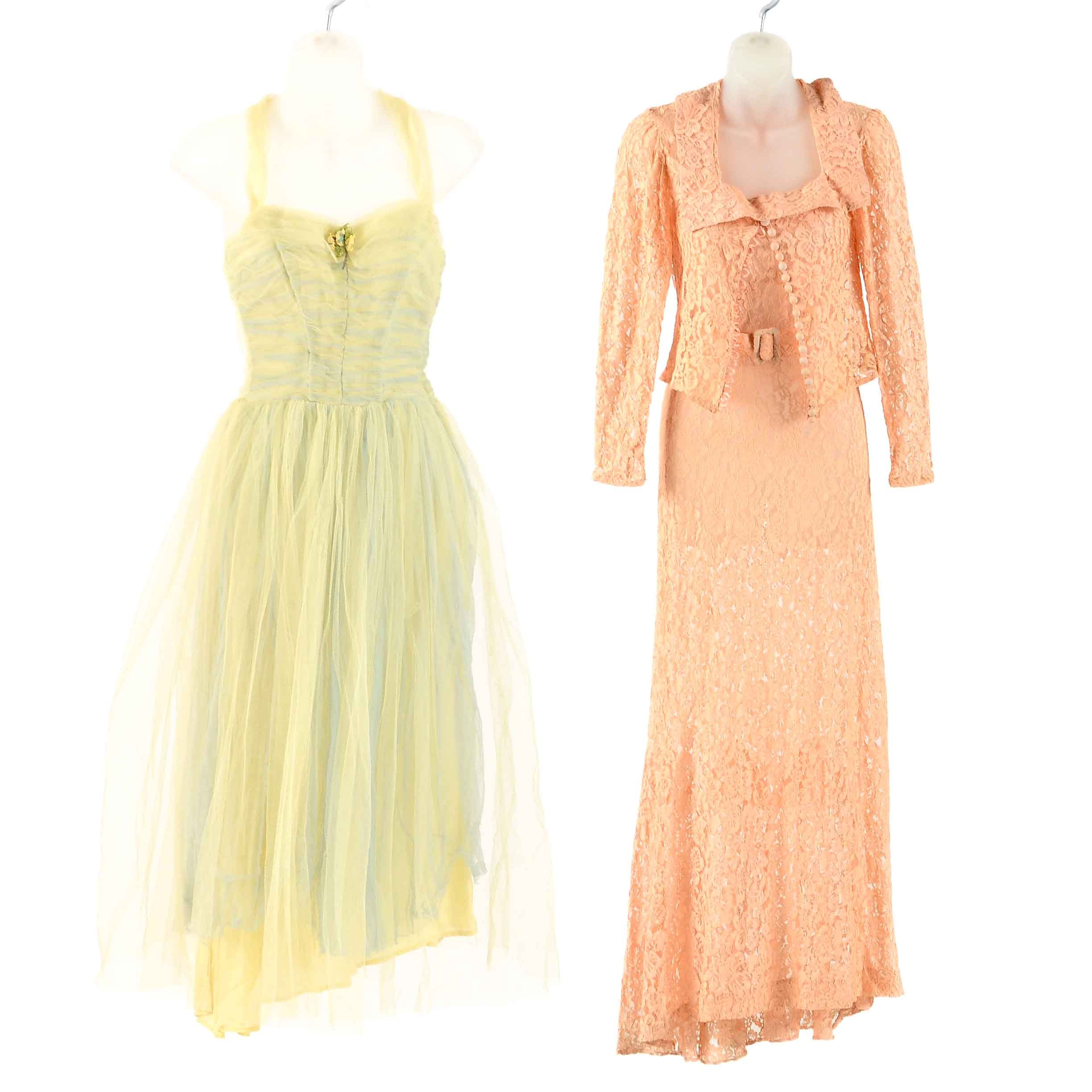 1950's Formal Lace Dresses