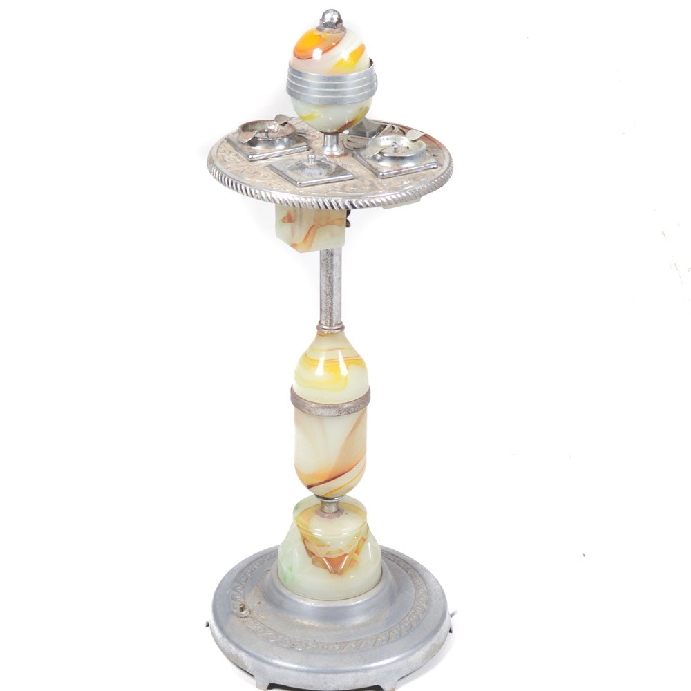 Vintage Art Deco Smoker's Stand by Mico