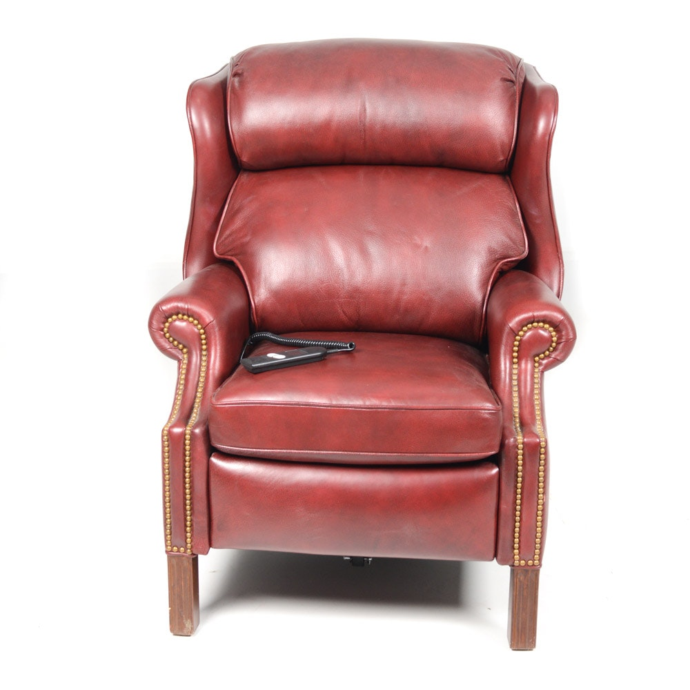 Hancock & Moore Leather Wingback Recliner