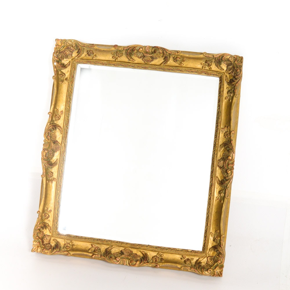 Wall Mirror in Gold Toned Frame