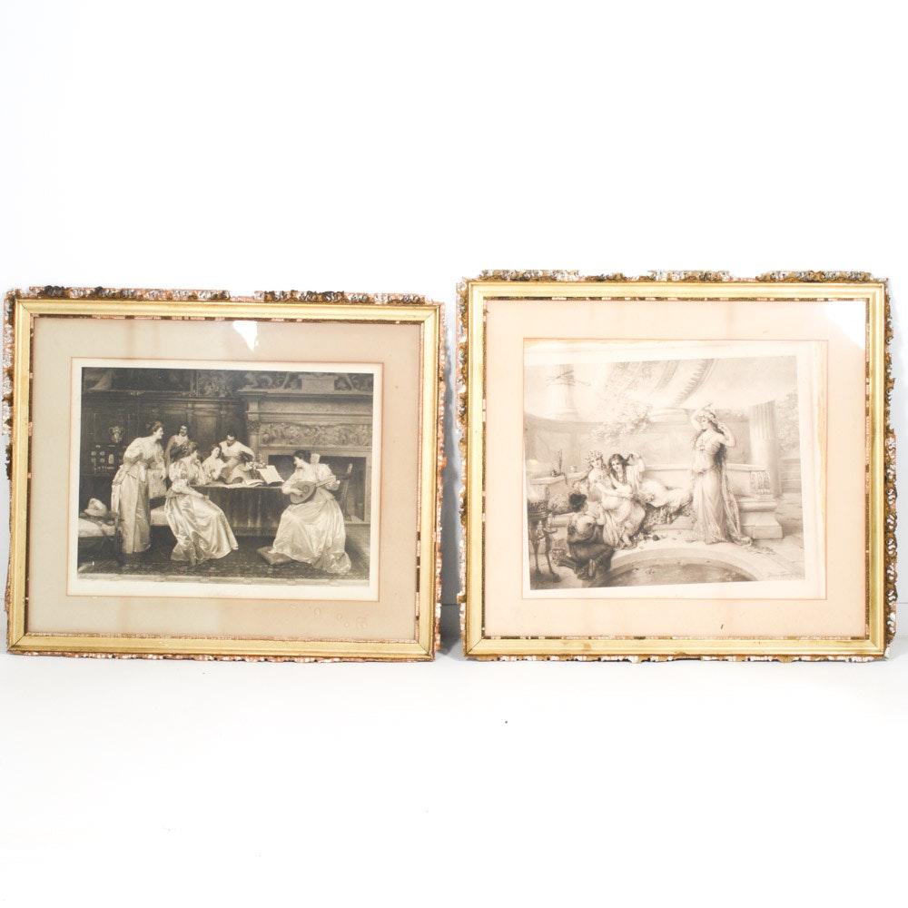 Antique Photogravure Prints