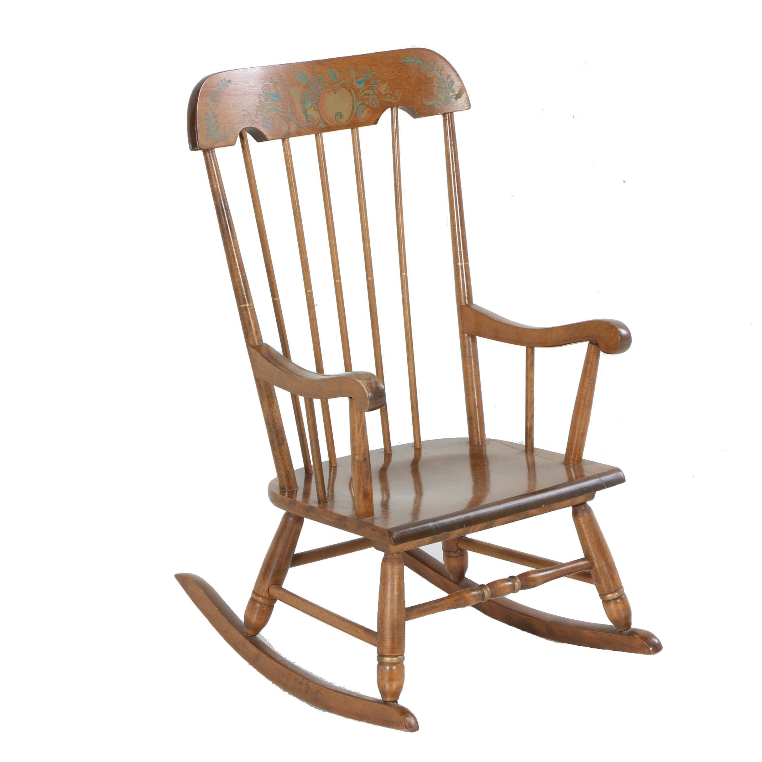 Elegant Childu0027s Vintage Maple Rocking Chair From Oak ...