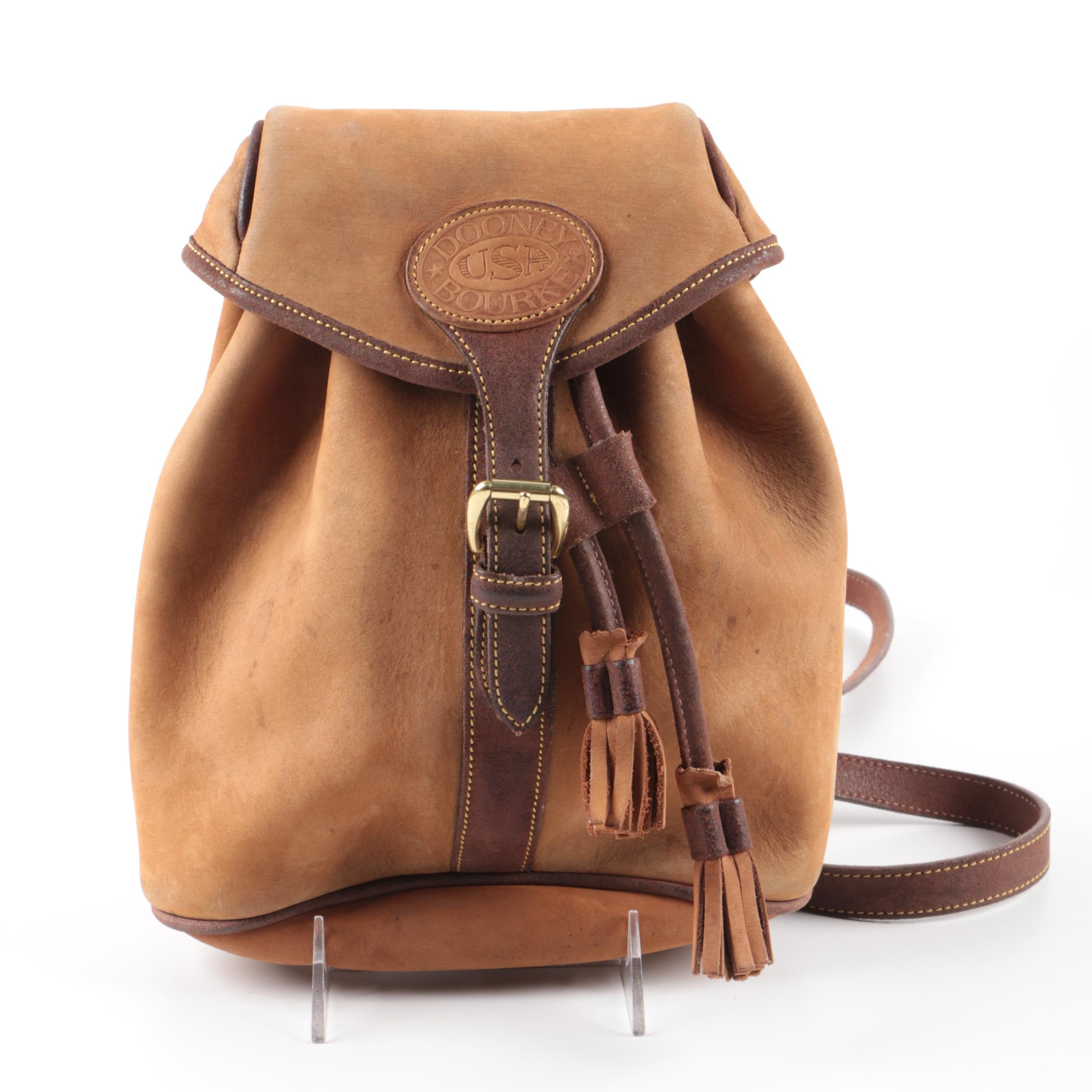 Vintage Dooney \u0026 Bourke Tan Nubuck Leather Backpack