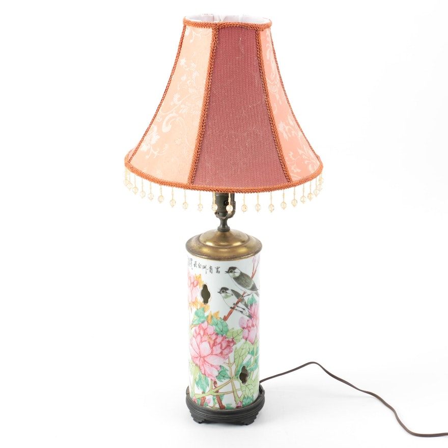 Hand painted chinese ceramic table lamp ebth hand painted chinese ceramic table lamp aloadofball Images