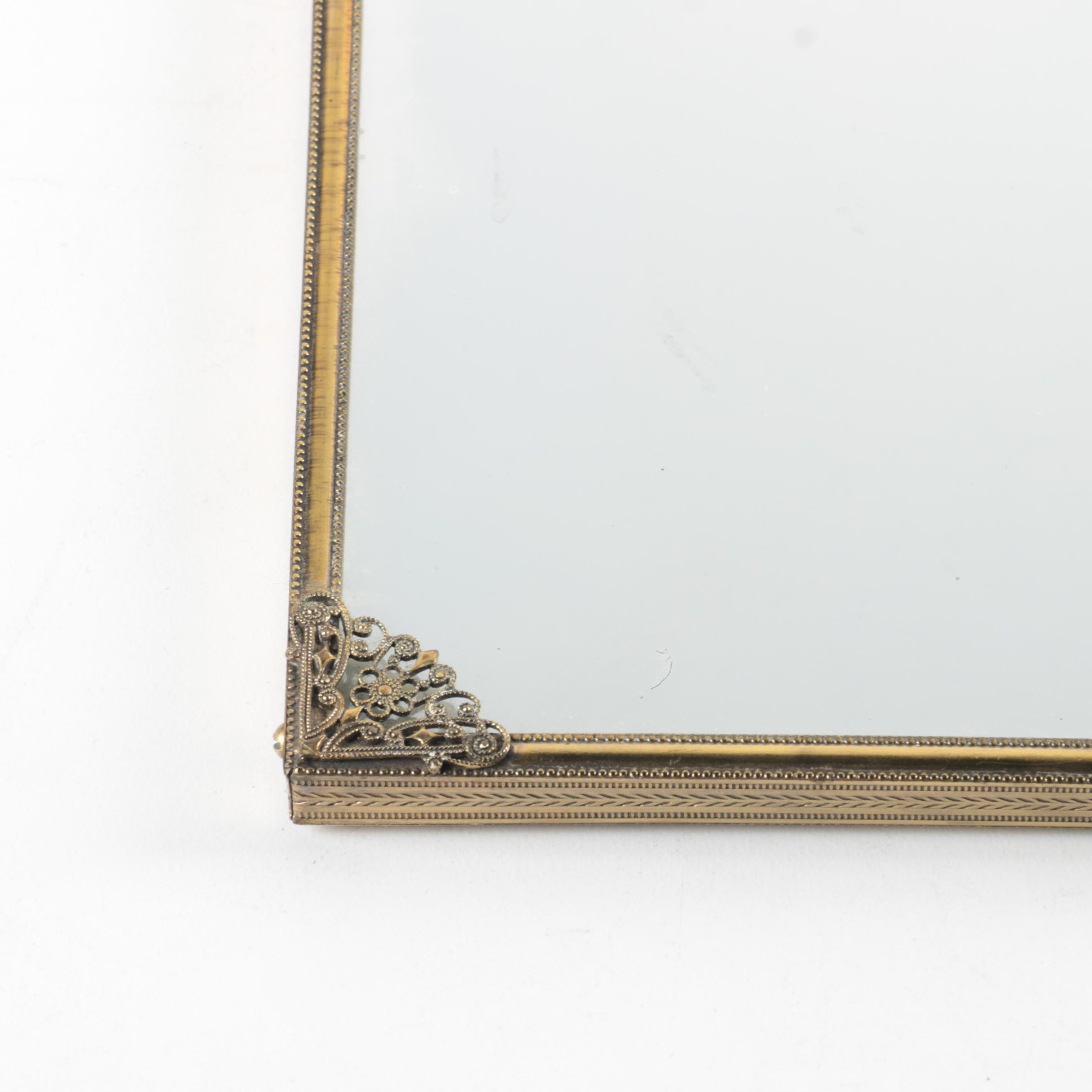 Gold Tone Metal Framed Wall Mirror Ebth