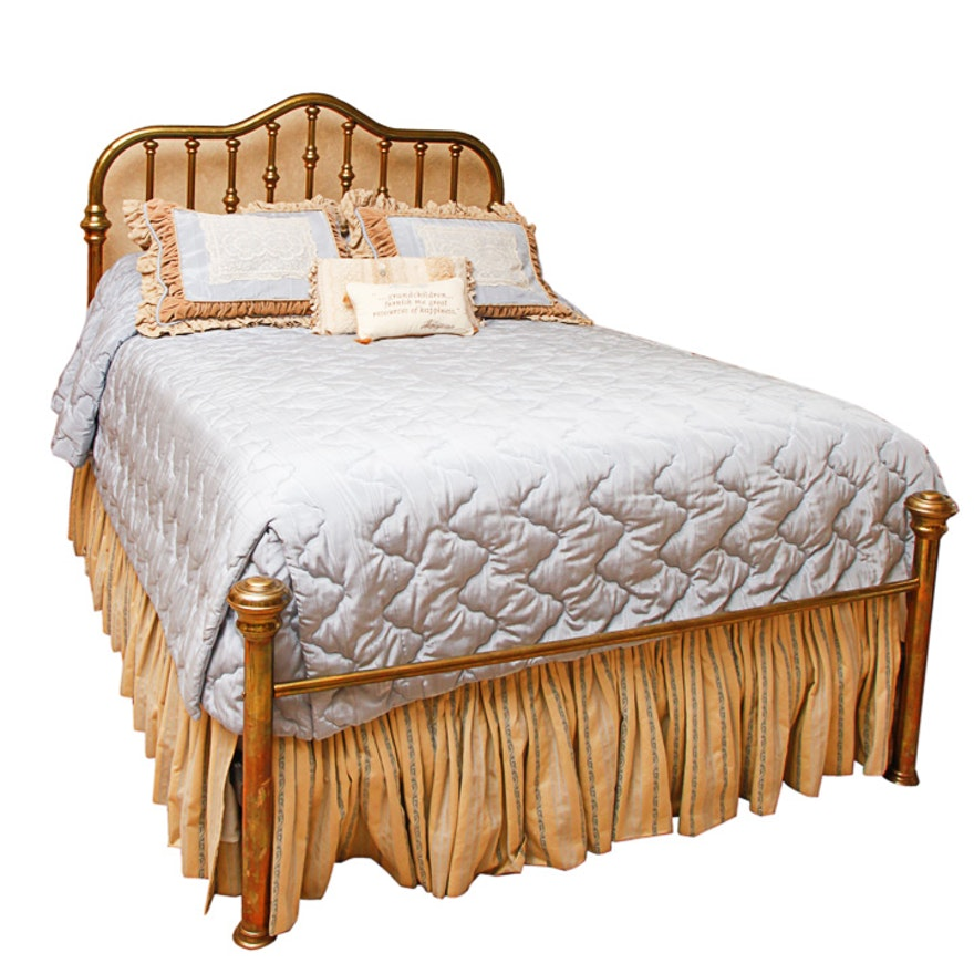 Queen Size Brass Bed Frame : EBTH