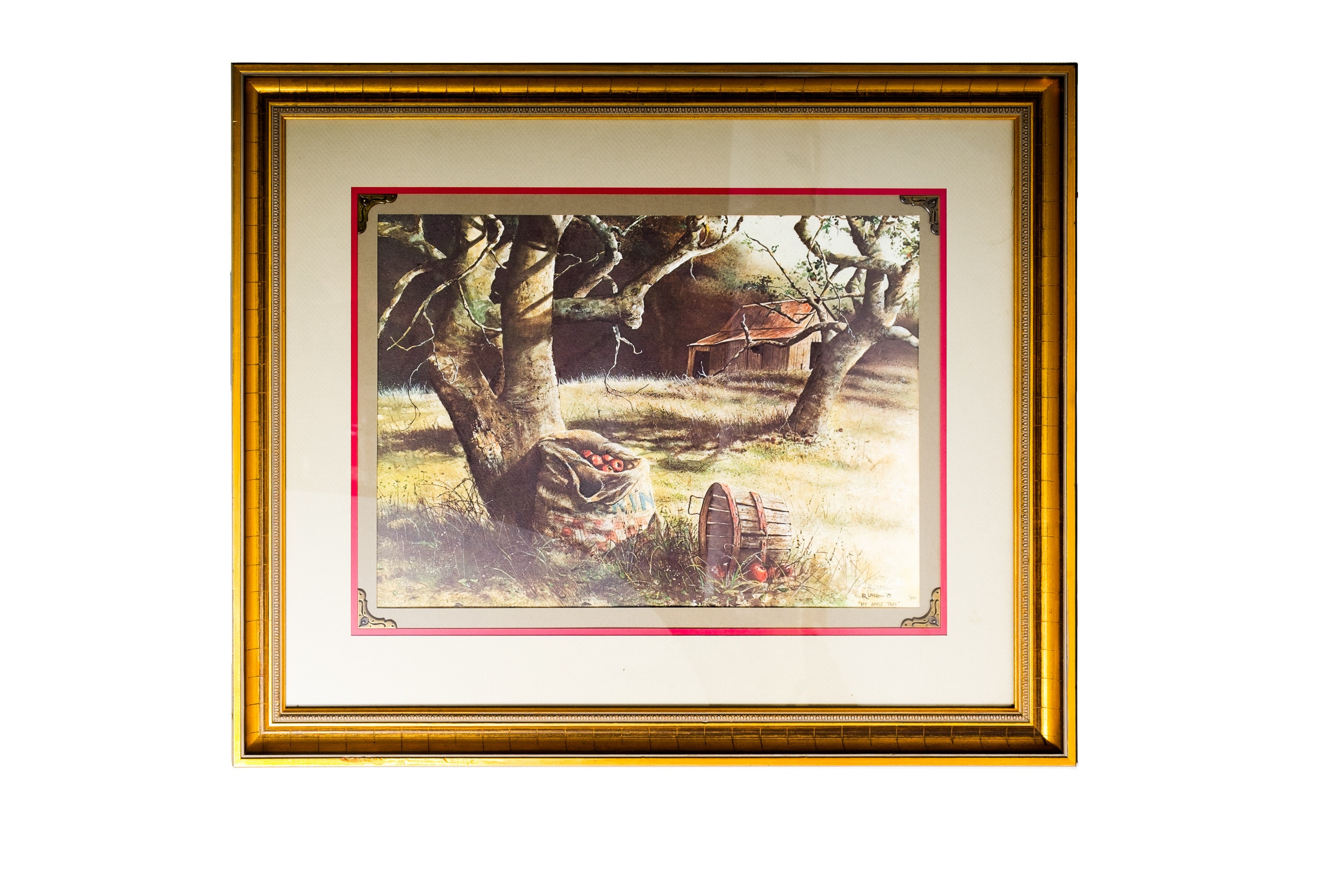 "H.R. Lovell Circa 1979 Limited Edition Offset Lithograph ""My Apple Tree"""