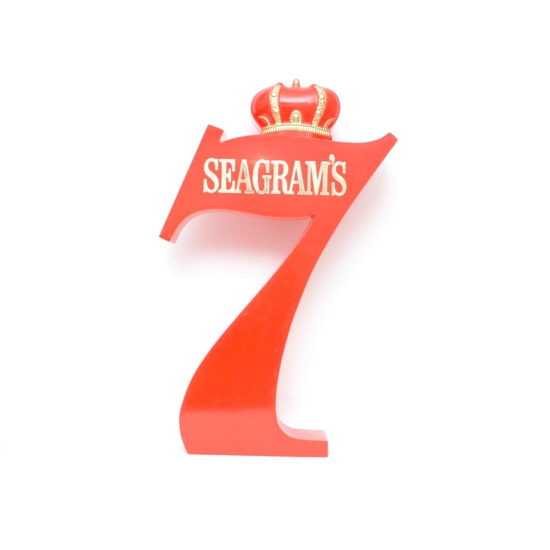Seagram's 7 Molded Plastic Sign