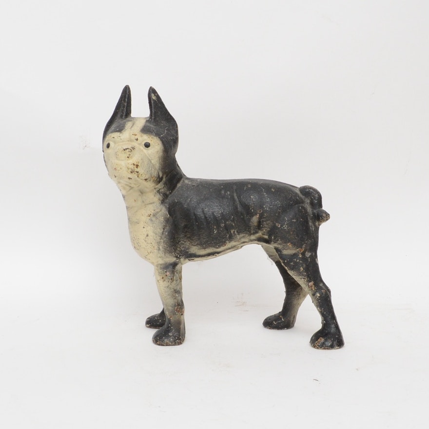 Antique Cast Iron French Bull Dog Door Stop ... - Antique Cast Iron French Bull Dog Door Stop : EBTH