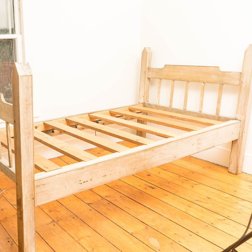 20th Century Primitive Twin-Size Bed Frame