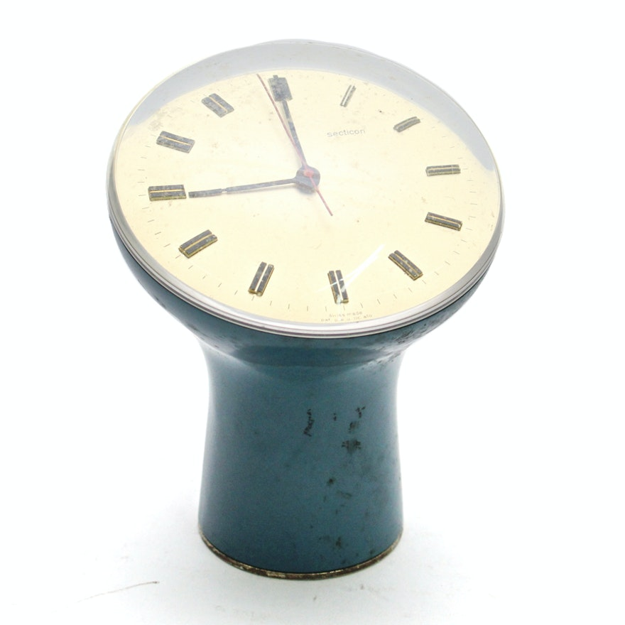 Mid Century Modern Secticon Desk Clock