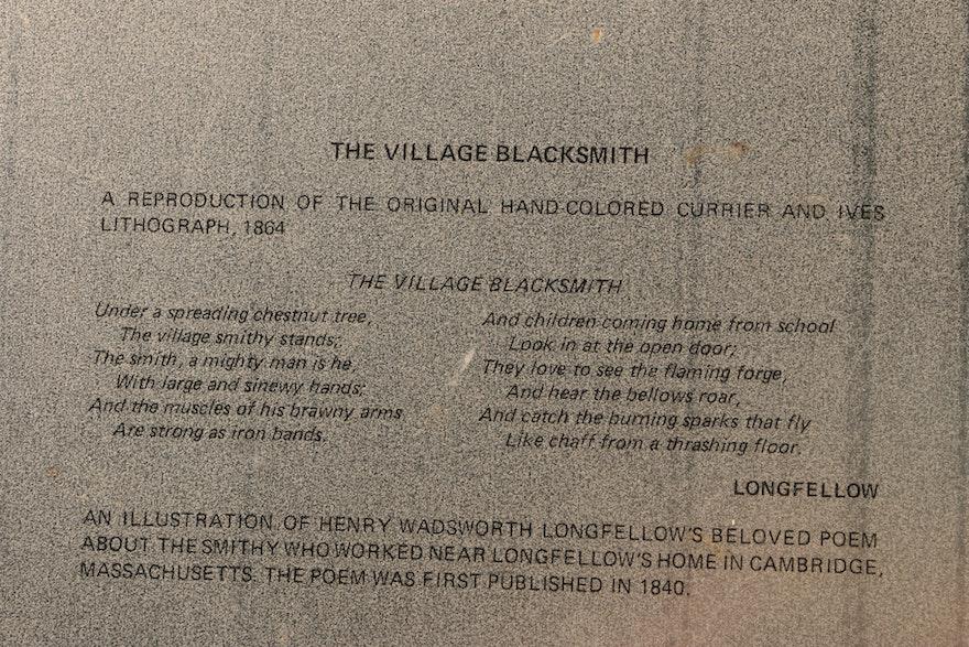 "B & B Auto Sales >> ""The Village Blacksmith"" Decorative Tin Tray | EBTH"