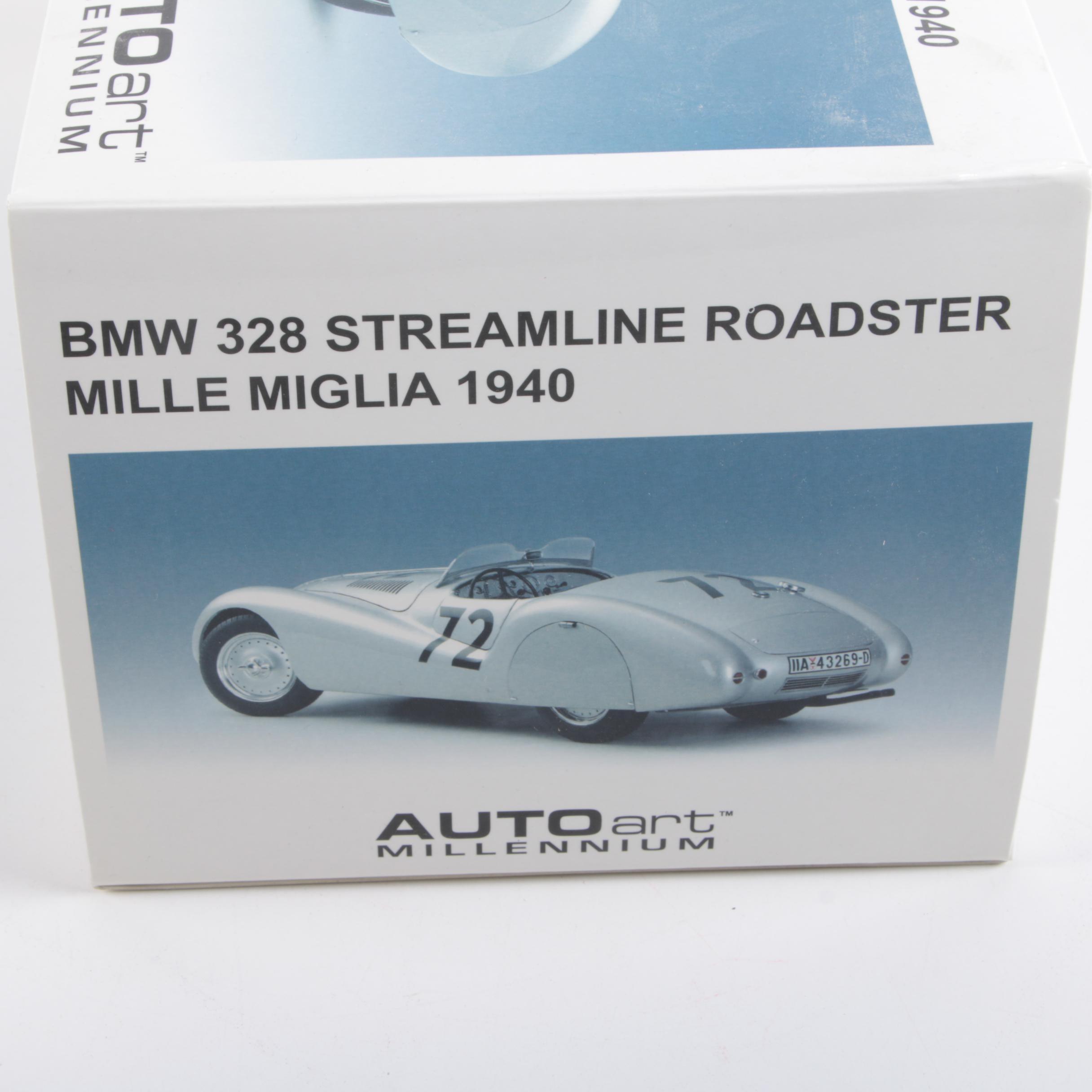"""Millennium Auto Sales >> 1940 BMW 328 Streamline Roadster """"Mille Miglia"""" Die-Cast Car : EBTH"""